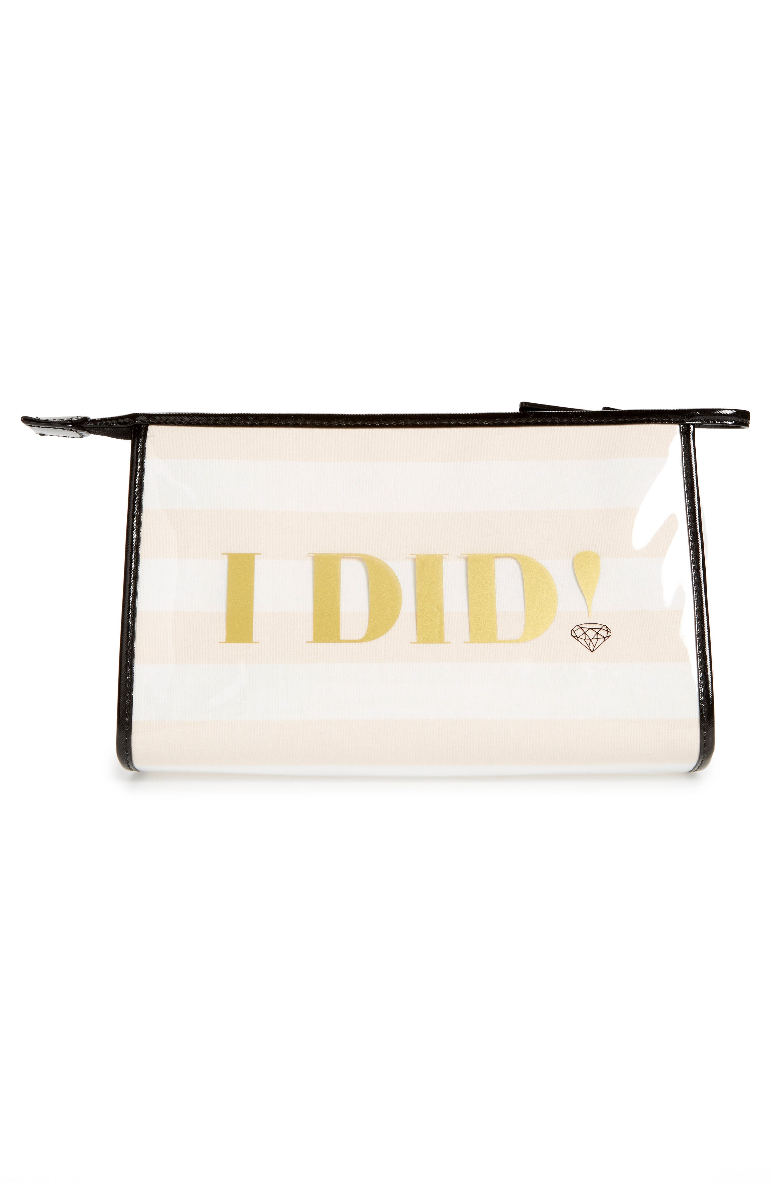 wedding belles - i do/i did pouch,                             Alternate thumbnail 2, color,                             100