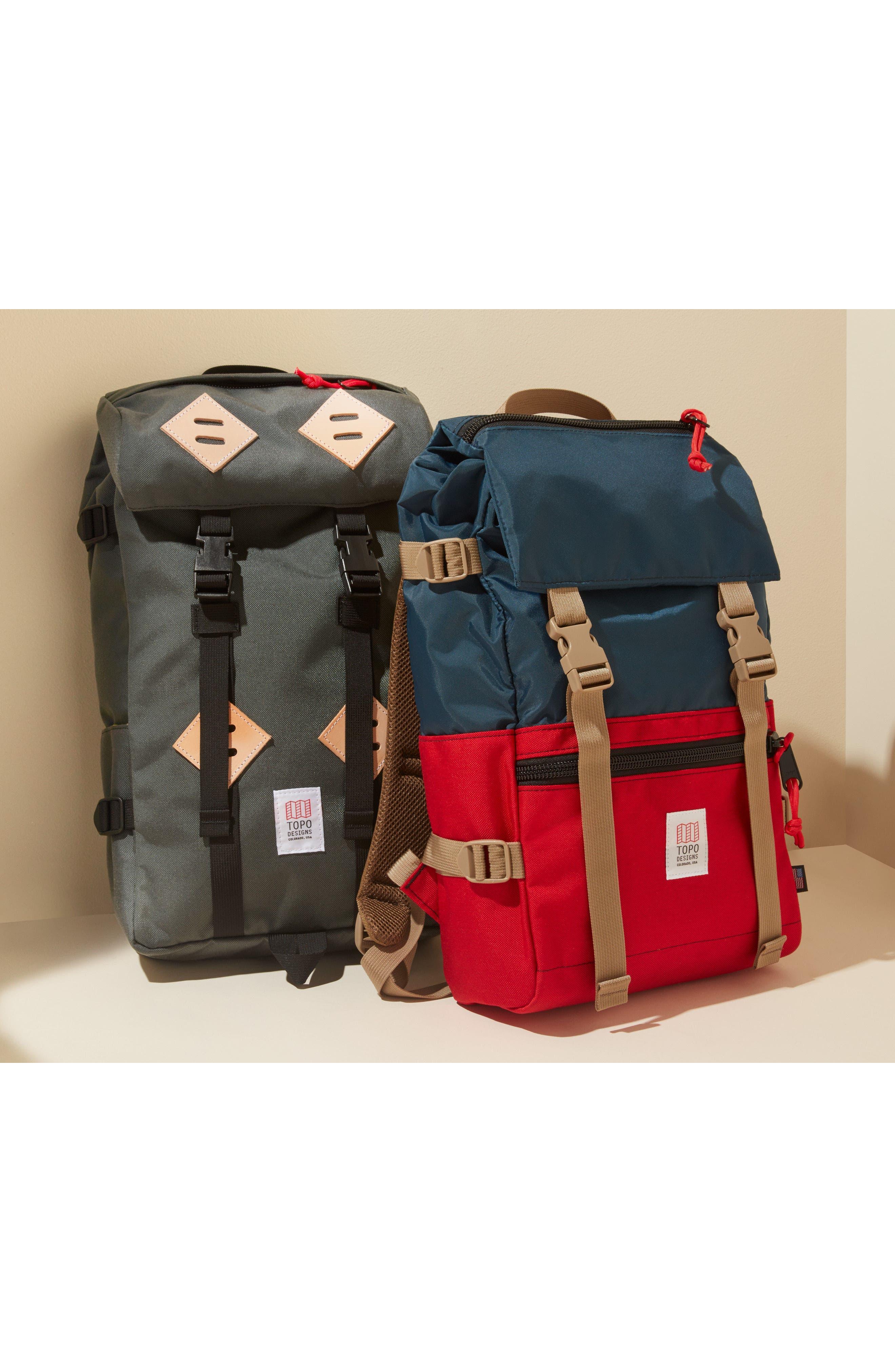 'Rover' Backpack,                             Alternate thumbnail 8, color,                             BALLISTIC BLACK