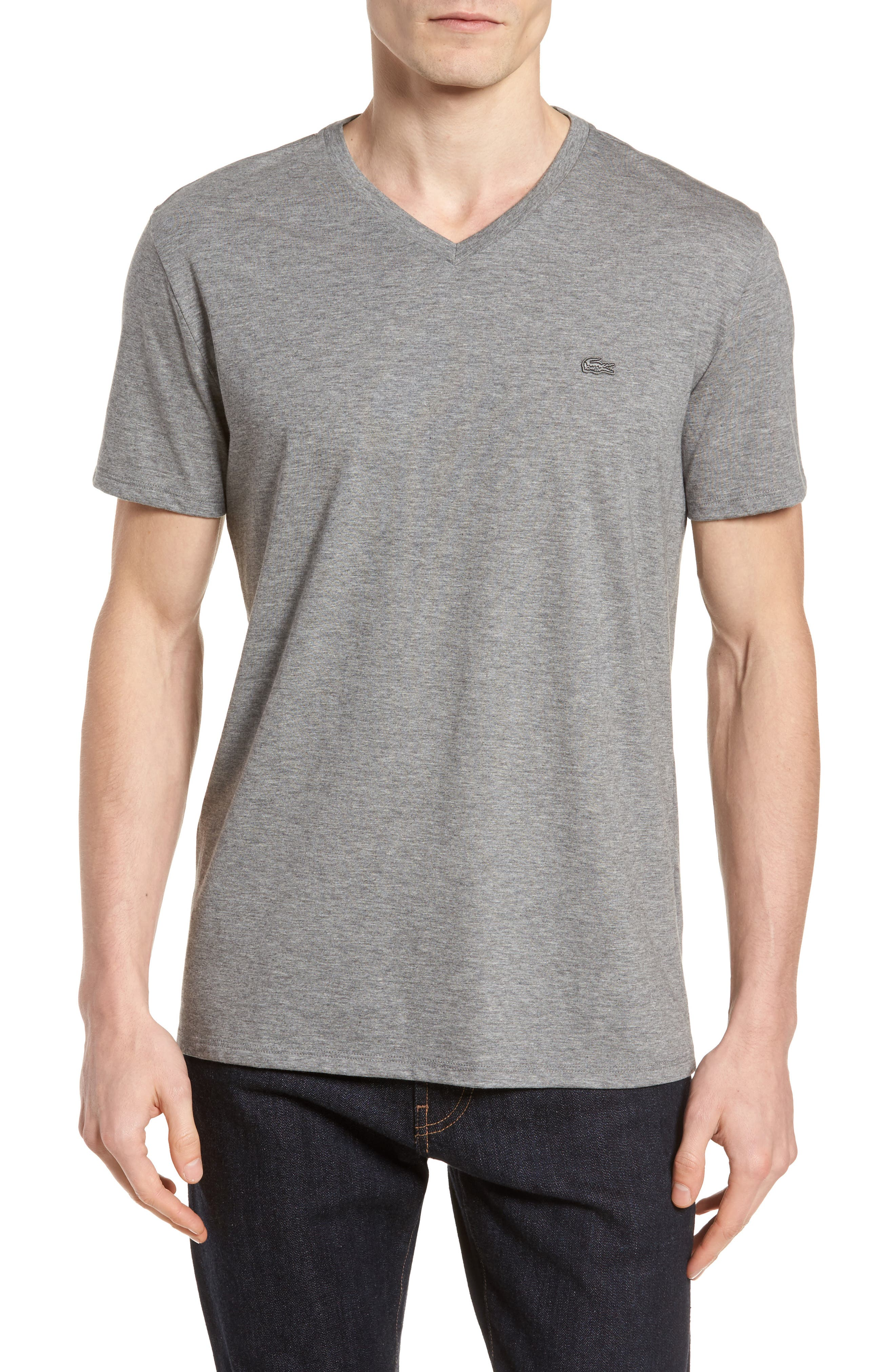 Pima Cotton T-Shirt,                             Main thumbnail 1, color,                             GALAXITE CHINE