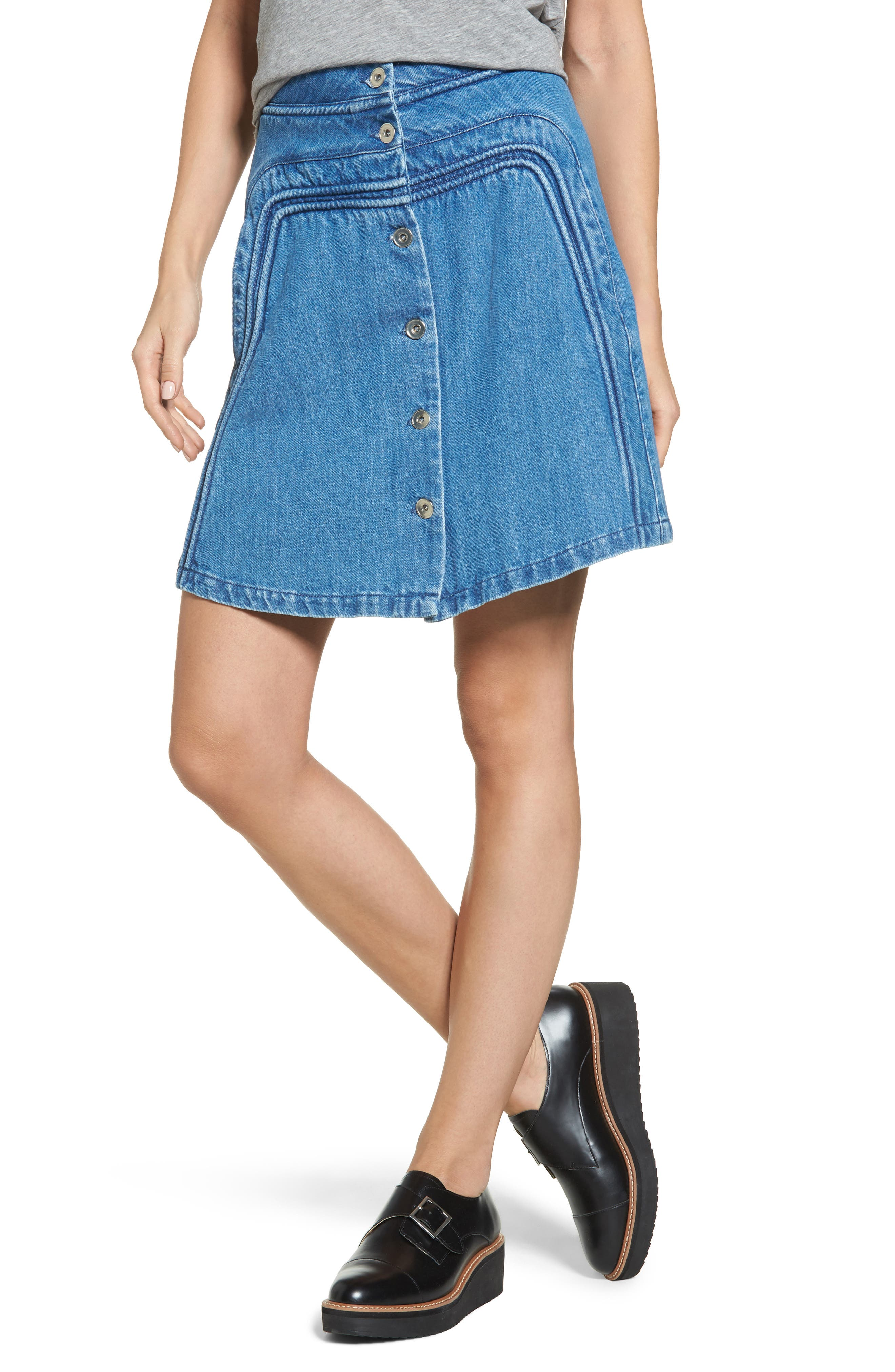A-Line Skirt,                         Main,                         color, 401