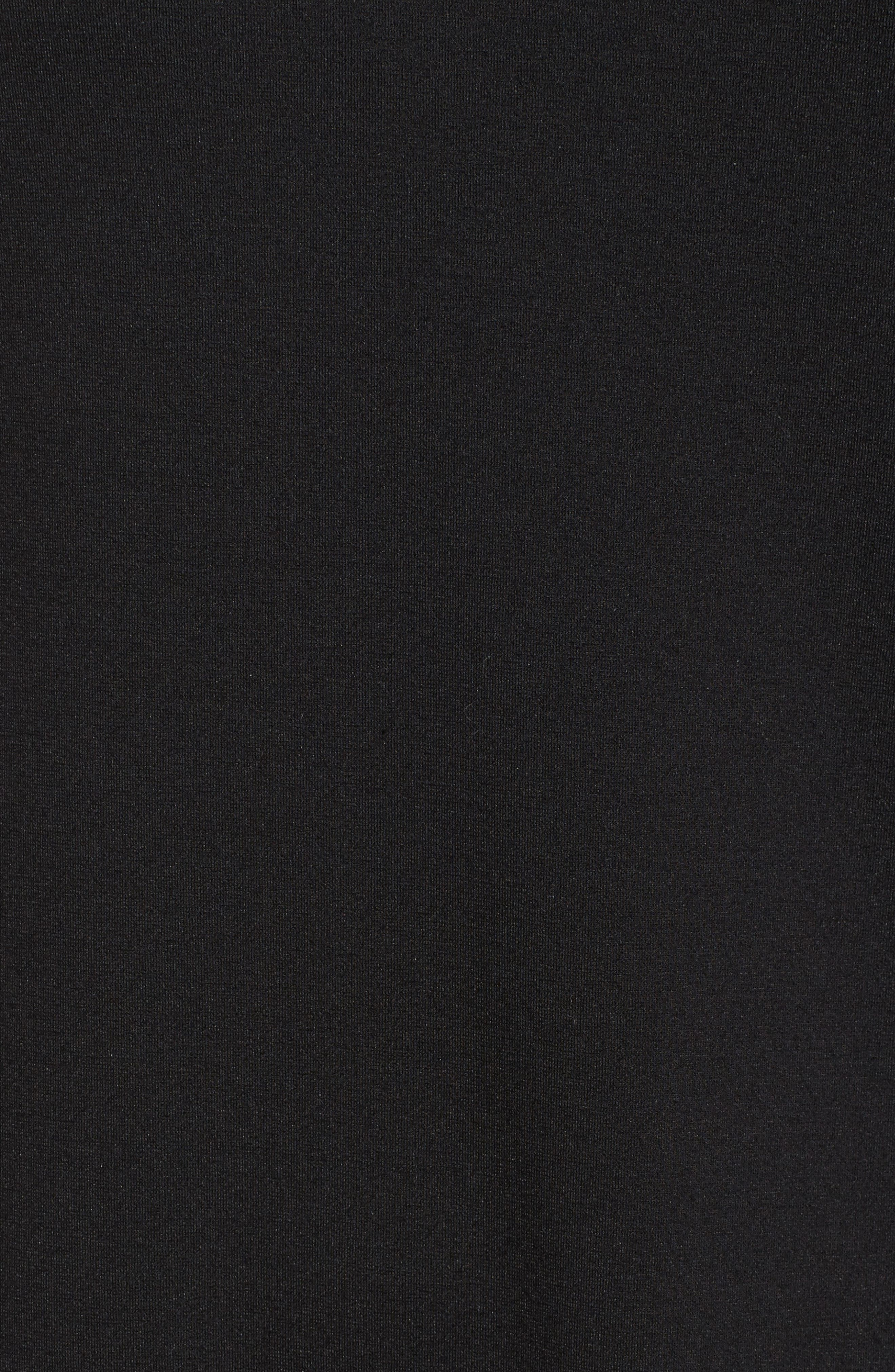 Halogen Ruffle Shift Dress,                             Alternate thumbnail 5, color,                             001
