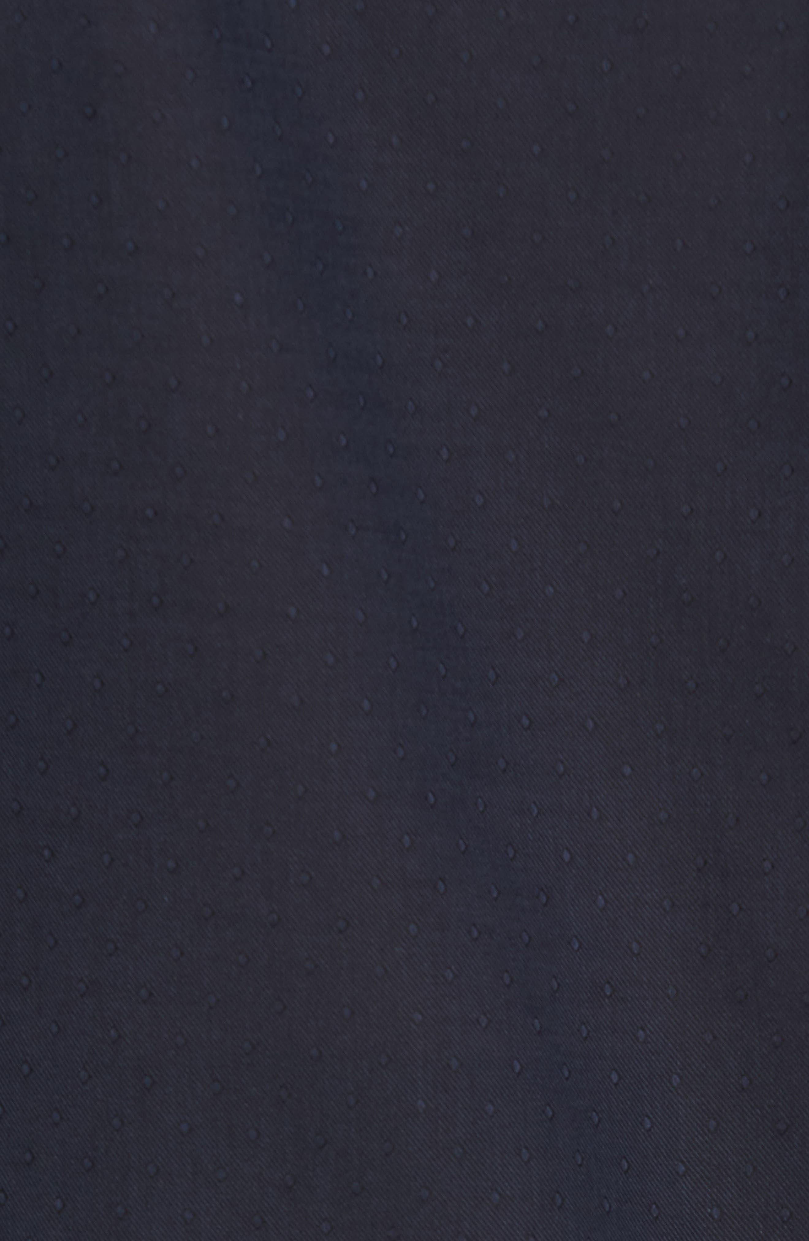 Slim Fit Diamond Twill Sport Shirt,                             Alternate thumbnail 5, color,                             NAVY