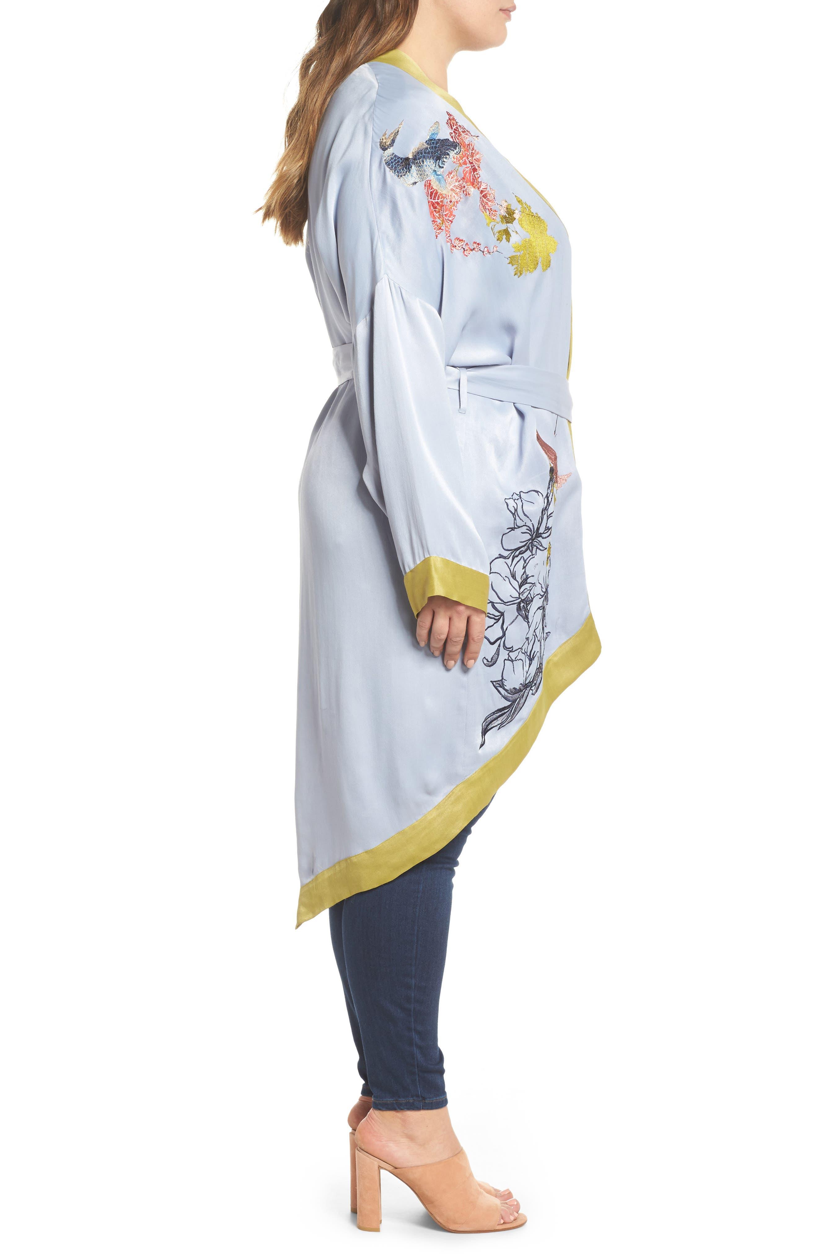 Embroidered Kimono,                             Alternate thumbnail 3, color,