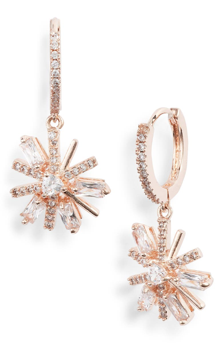 Jenny Packham MINI PAVE CRYSTAL DROP EARRINGS