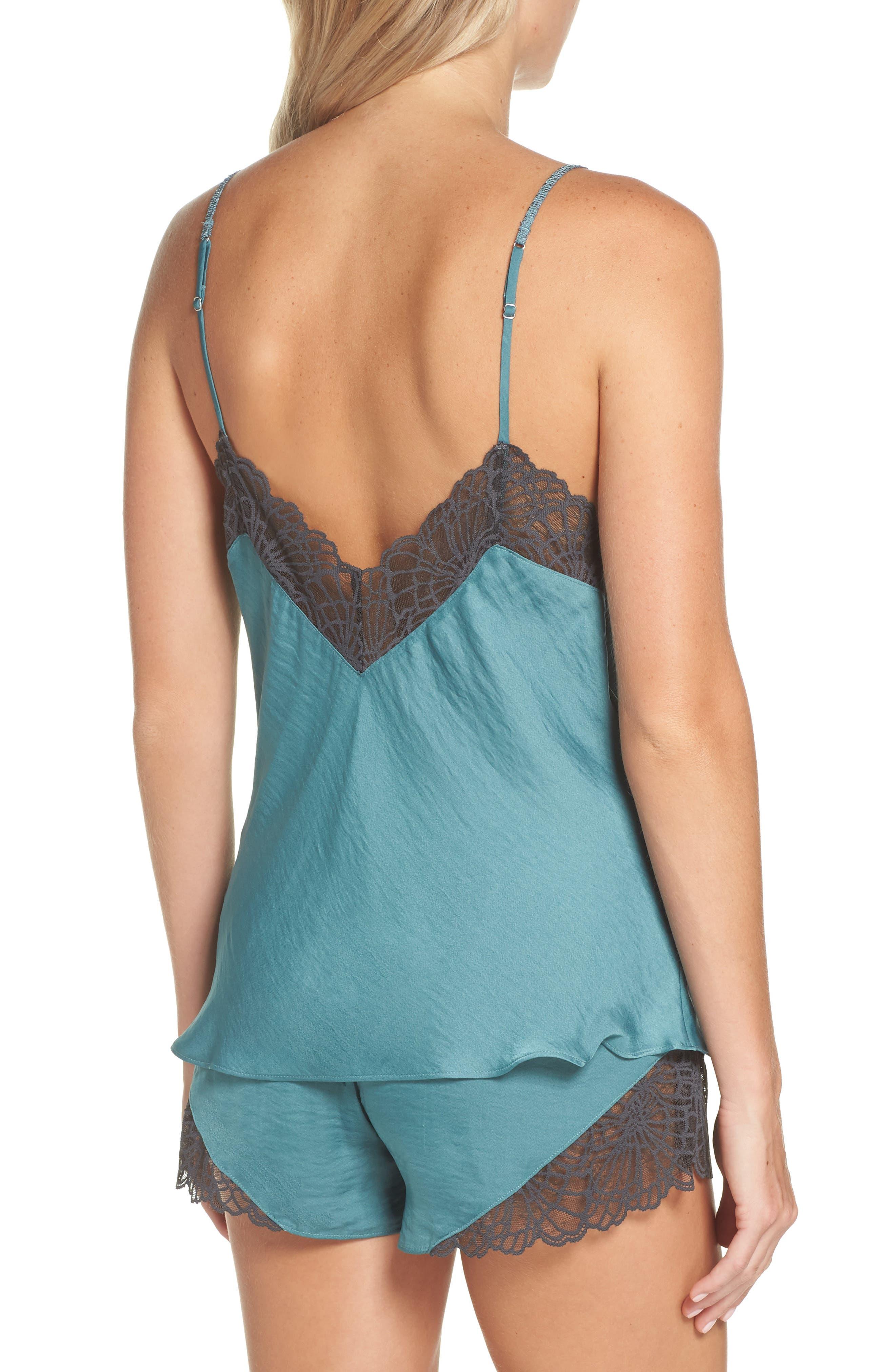 Colette Camisole & Short Pajamas,                             Alternate thumbnail 2, color,                             DUSTY JADE