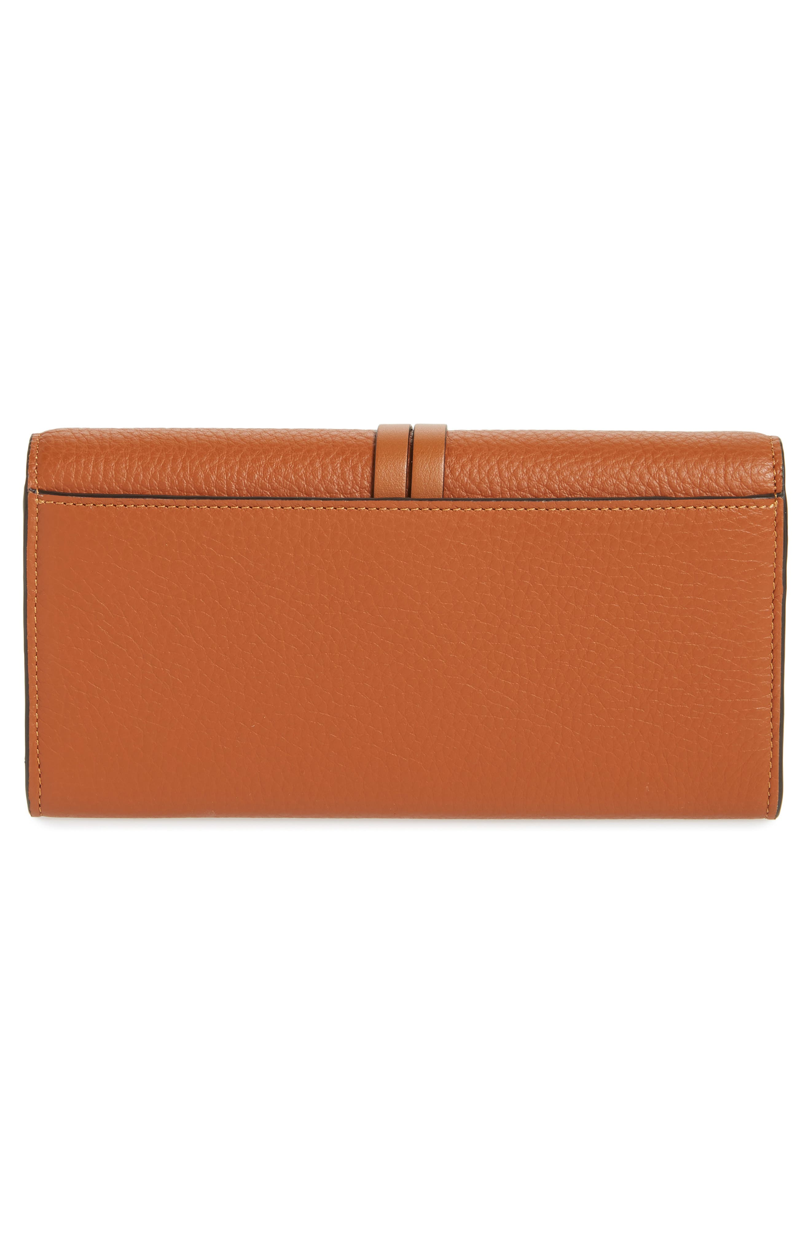 Alphabet Leather Wallet,                             Alternate thumbnail 3, color,                             TAN