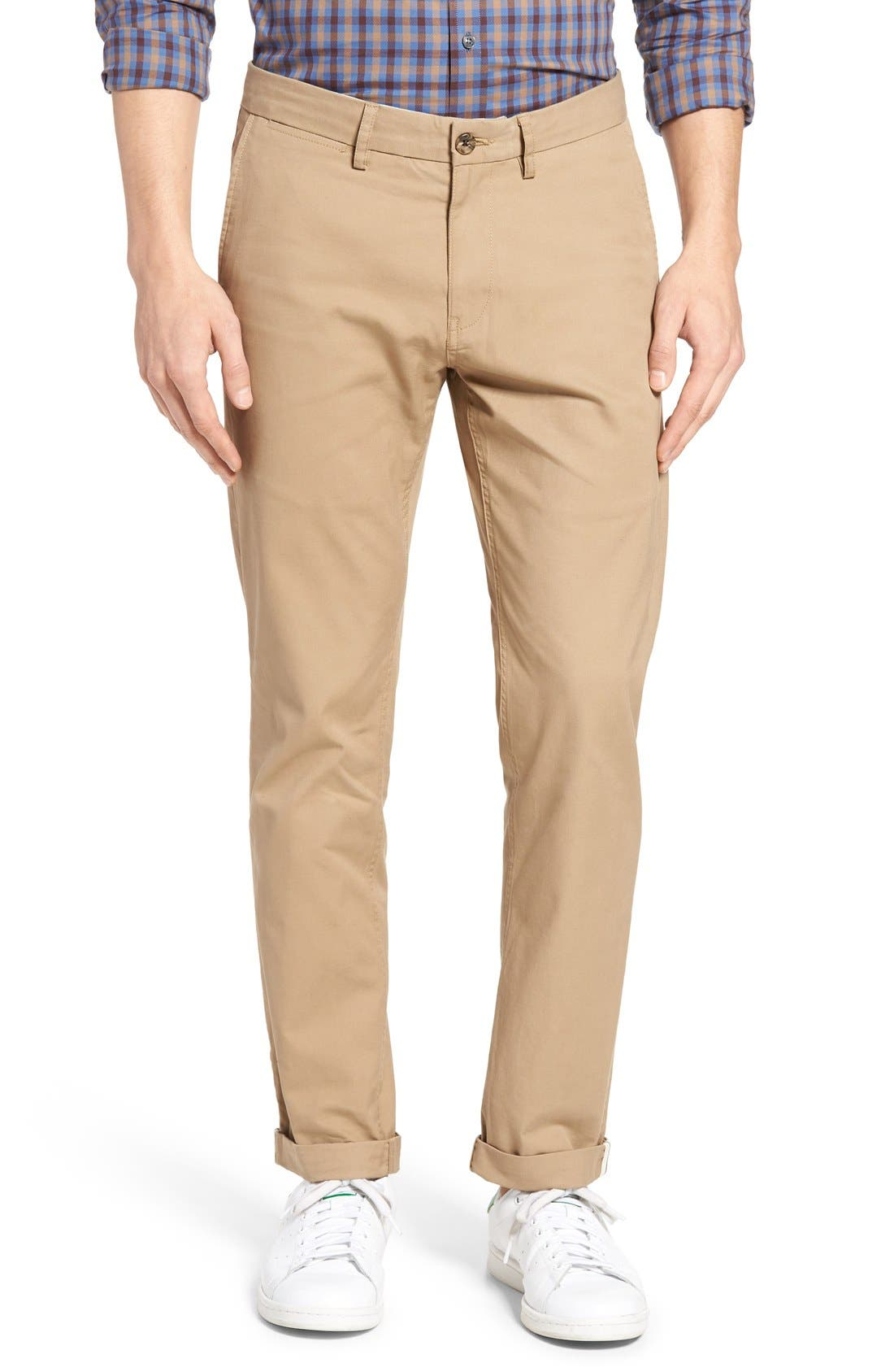 Slim Fit Stretch Chinos,                             Alternate thumbnail 43, color,