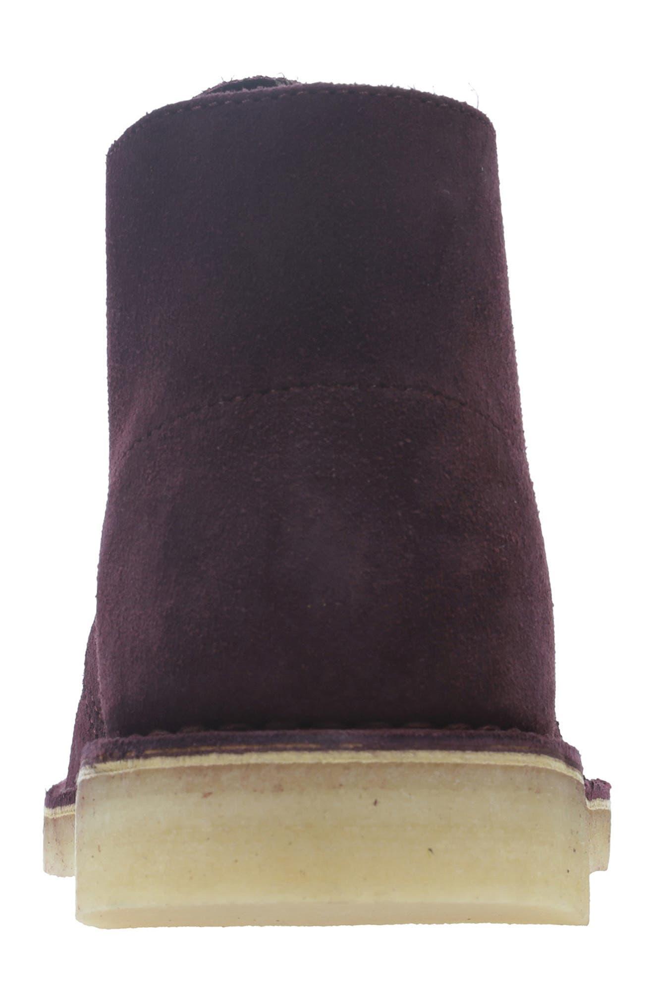 'Desert' Boot,                             Alternate thumbnail 4, color,                             BORDEAUX/BORDEAUX SUEDE