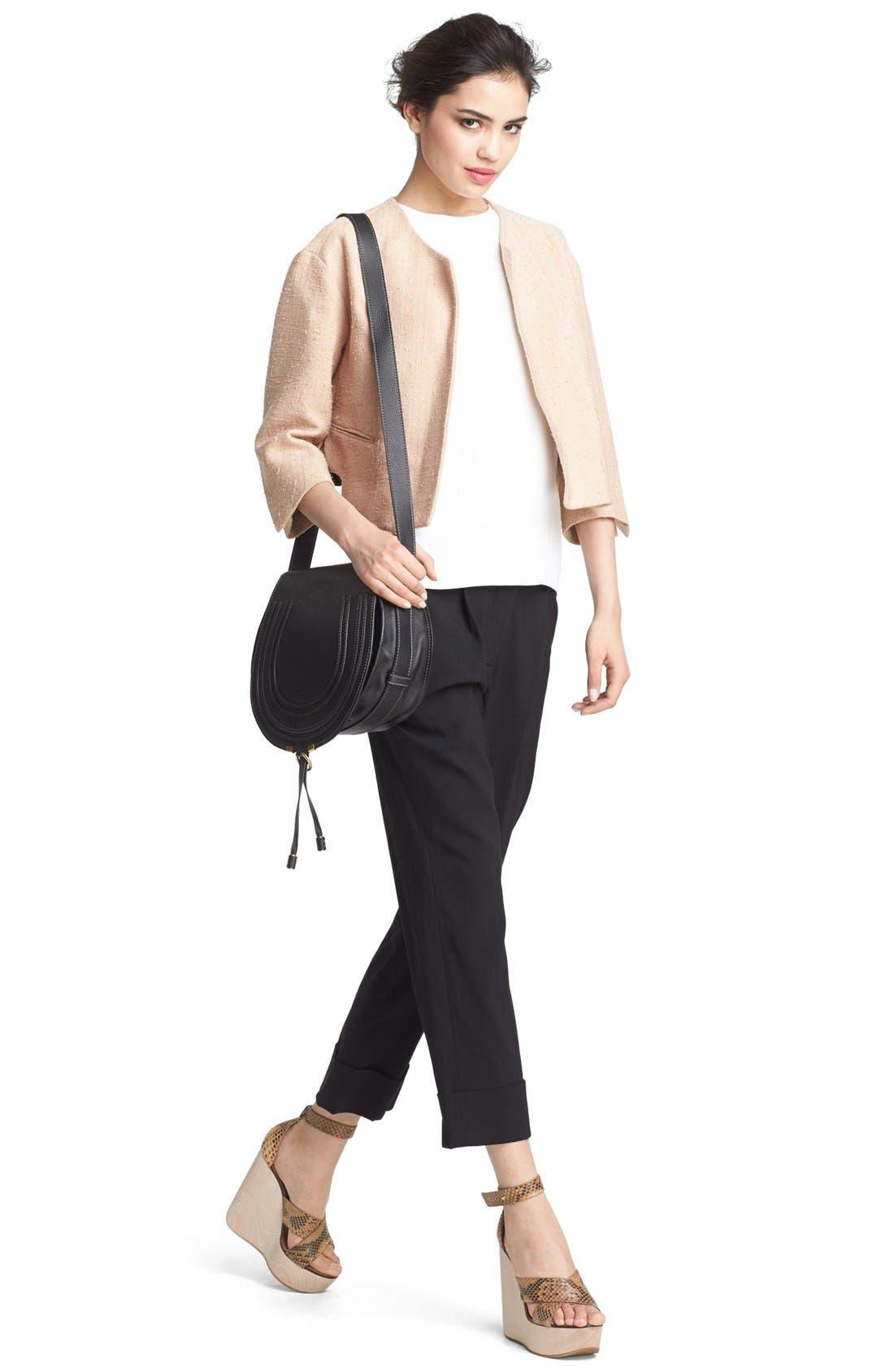 'Marcie - Medium' Leather Crossbody Bag,                             Alternate thumbnail 2, color,                             001