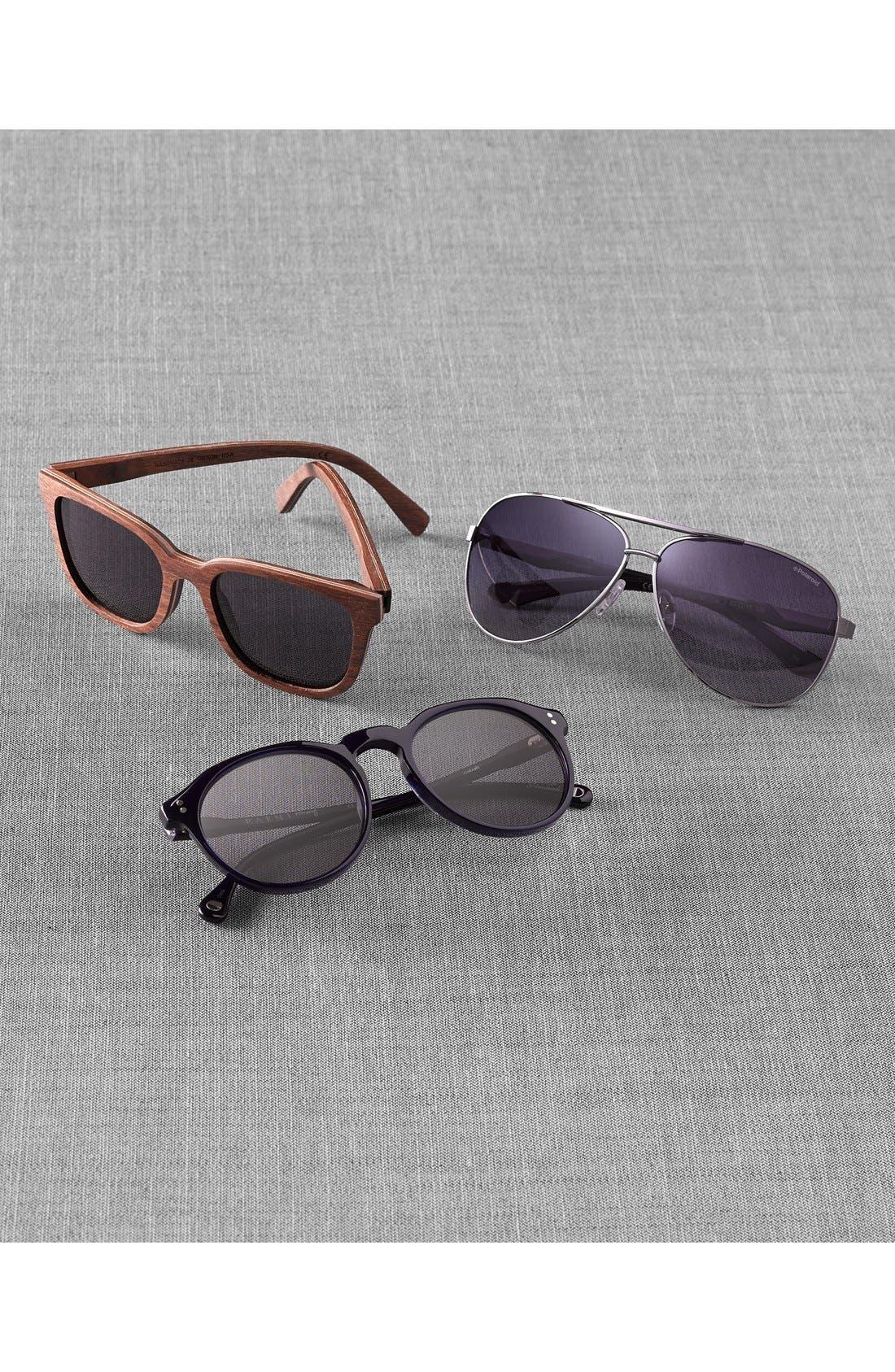 'Prescott' 53mm Wood Sunglasses,                             Alternate thumbnail 2, color,                             WALNUT/ GREY