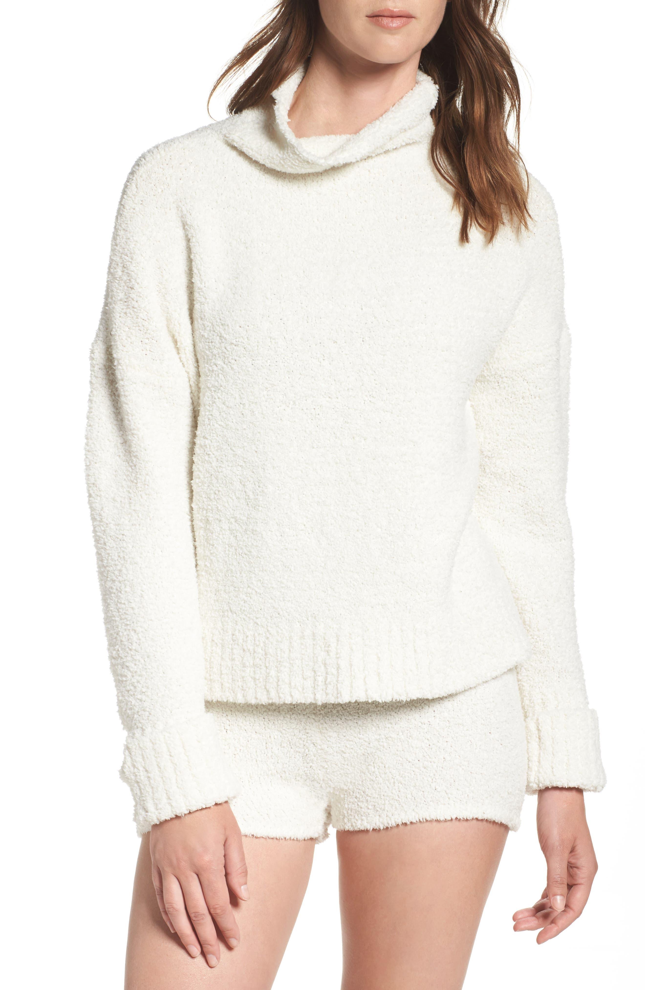 Sweater Knit Pajama Shorts,                             Alternate thumbnail 7, color,                             900