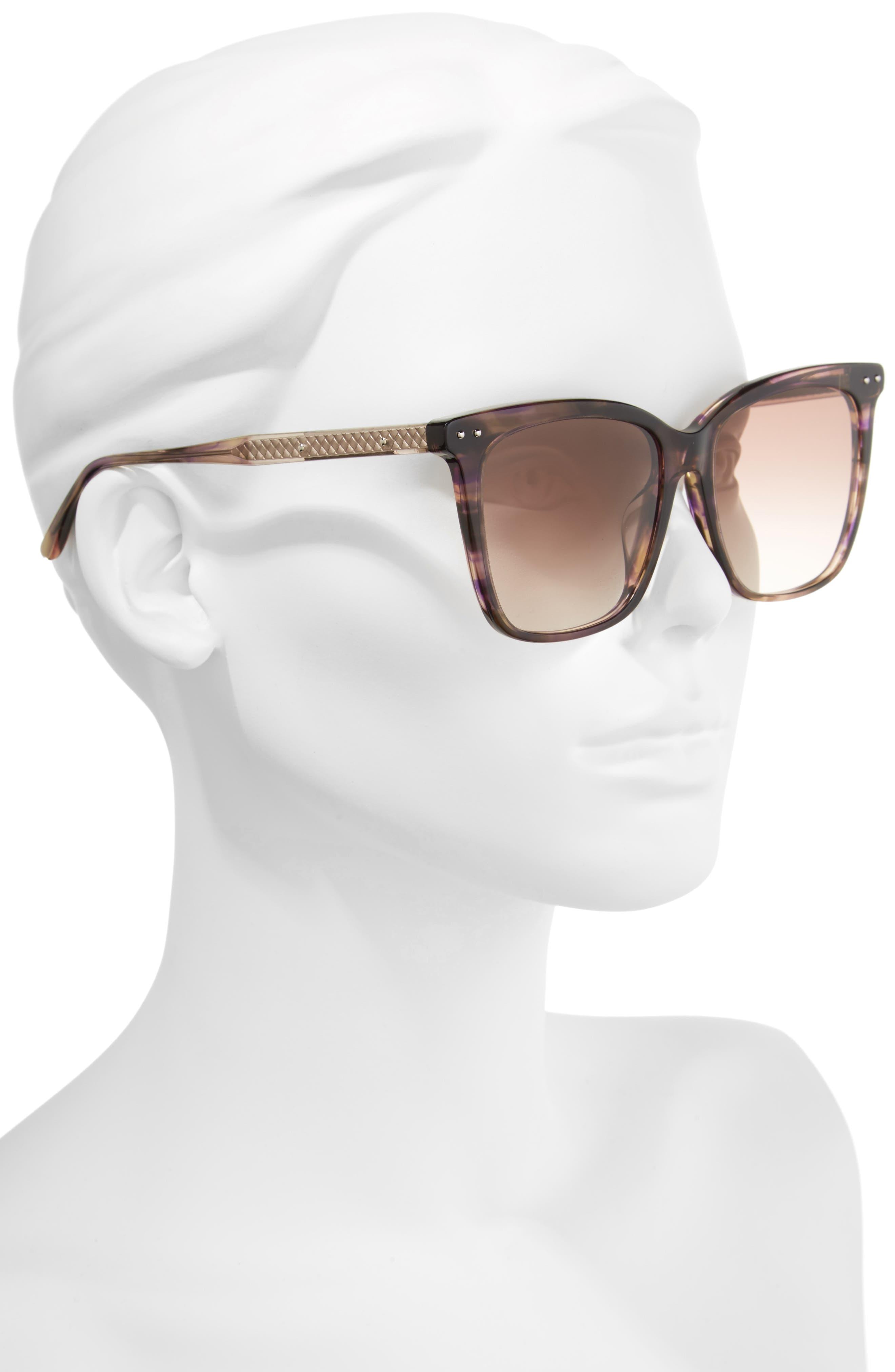 54mm Square Sunglasses,                             Alternate thumbnail 5, color,