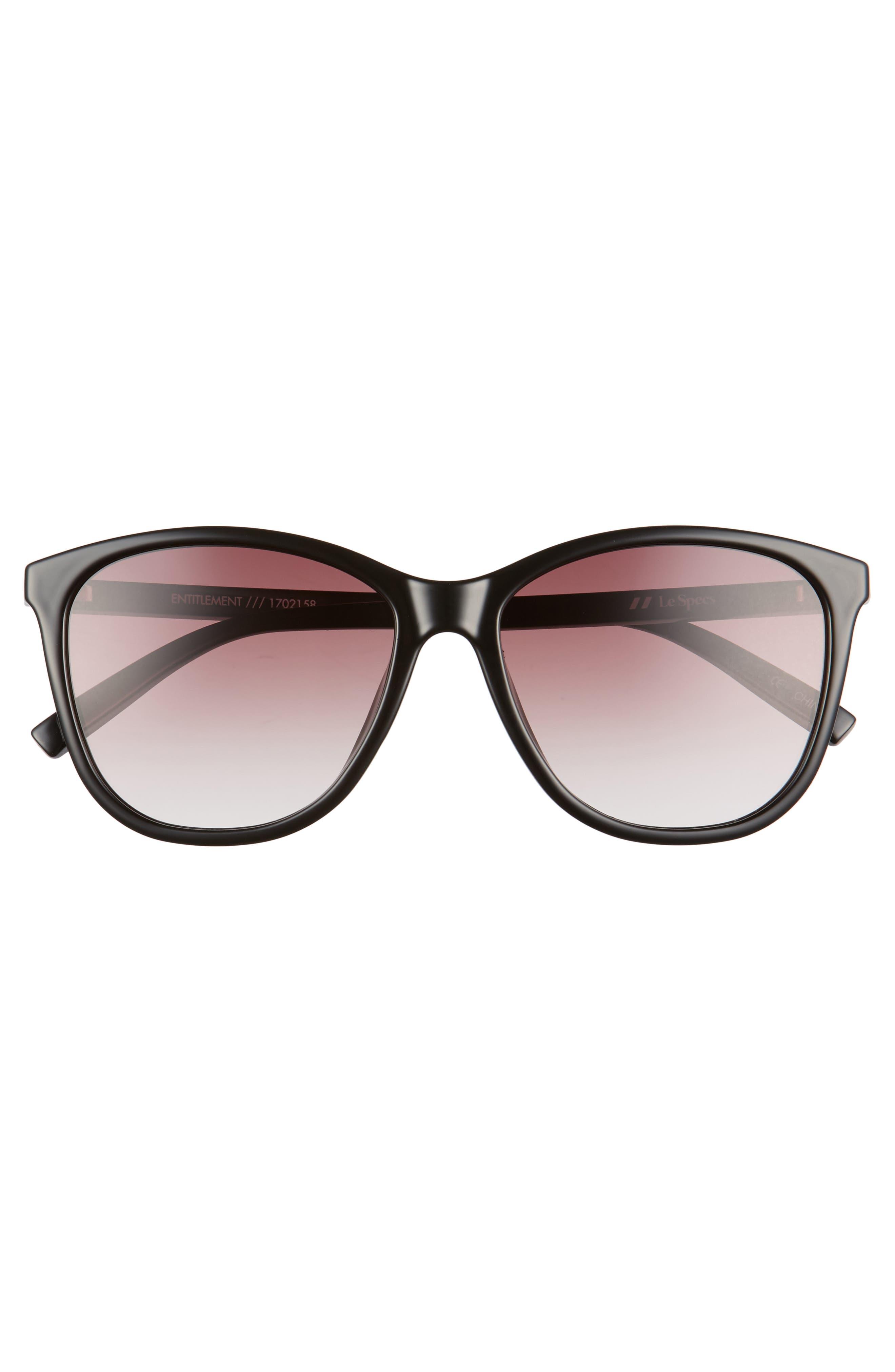 Entitlement 57mm Sunglasses,                             Alternate thumbnail 3, color,                             001