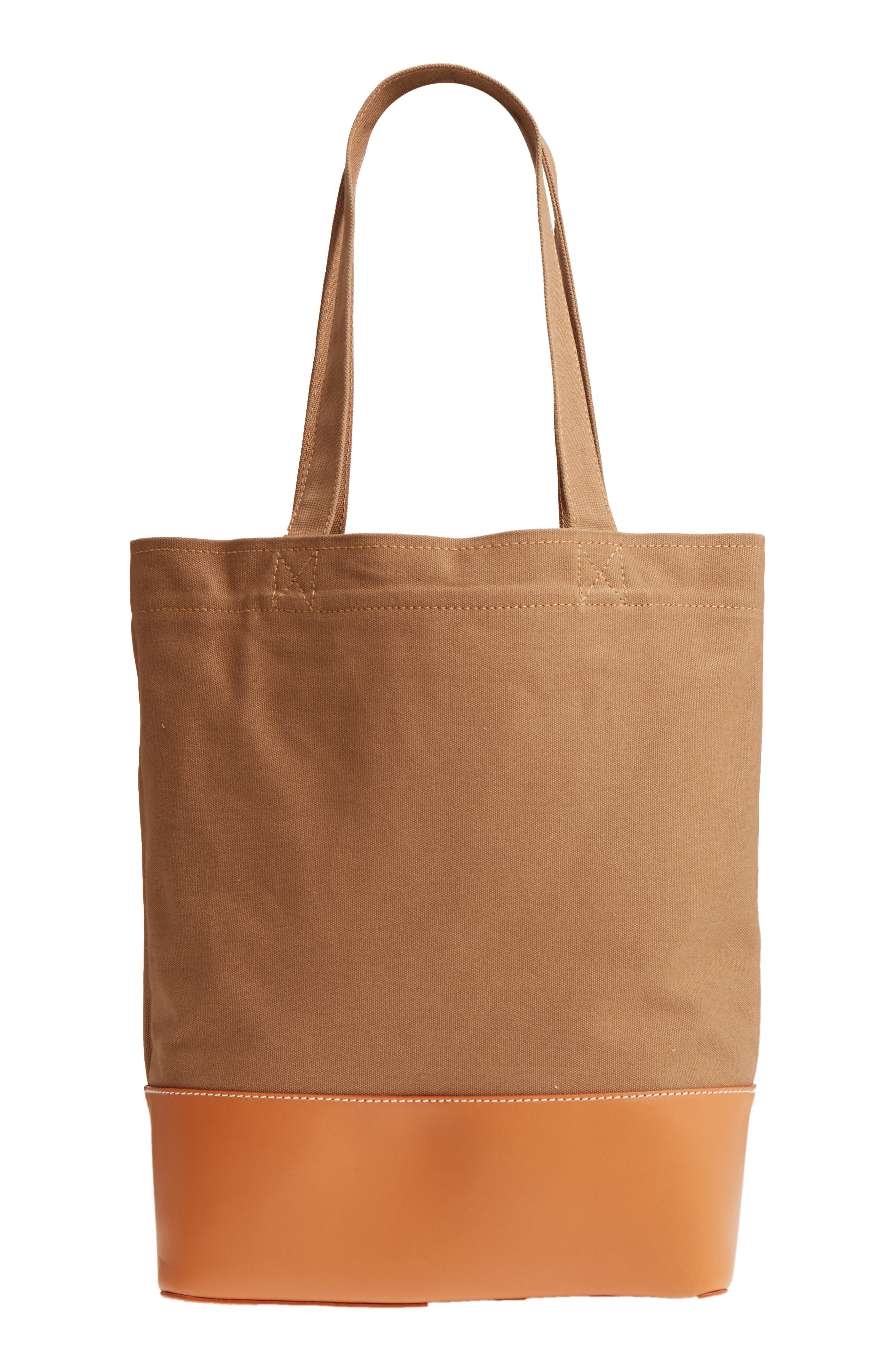 Cabas Axel Canvas & Leather Tote,                             Alternate thumbnail 3, color,                             KAKI CLAIR
