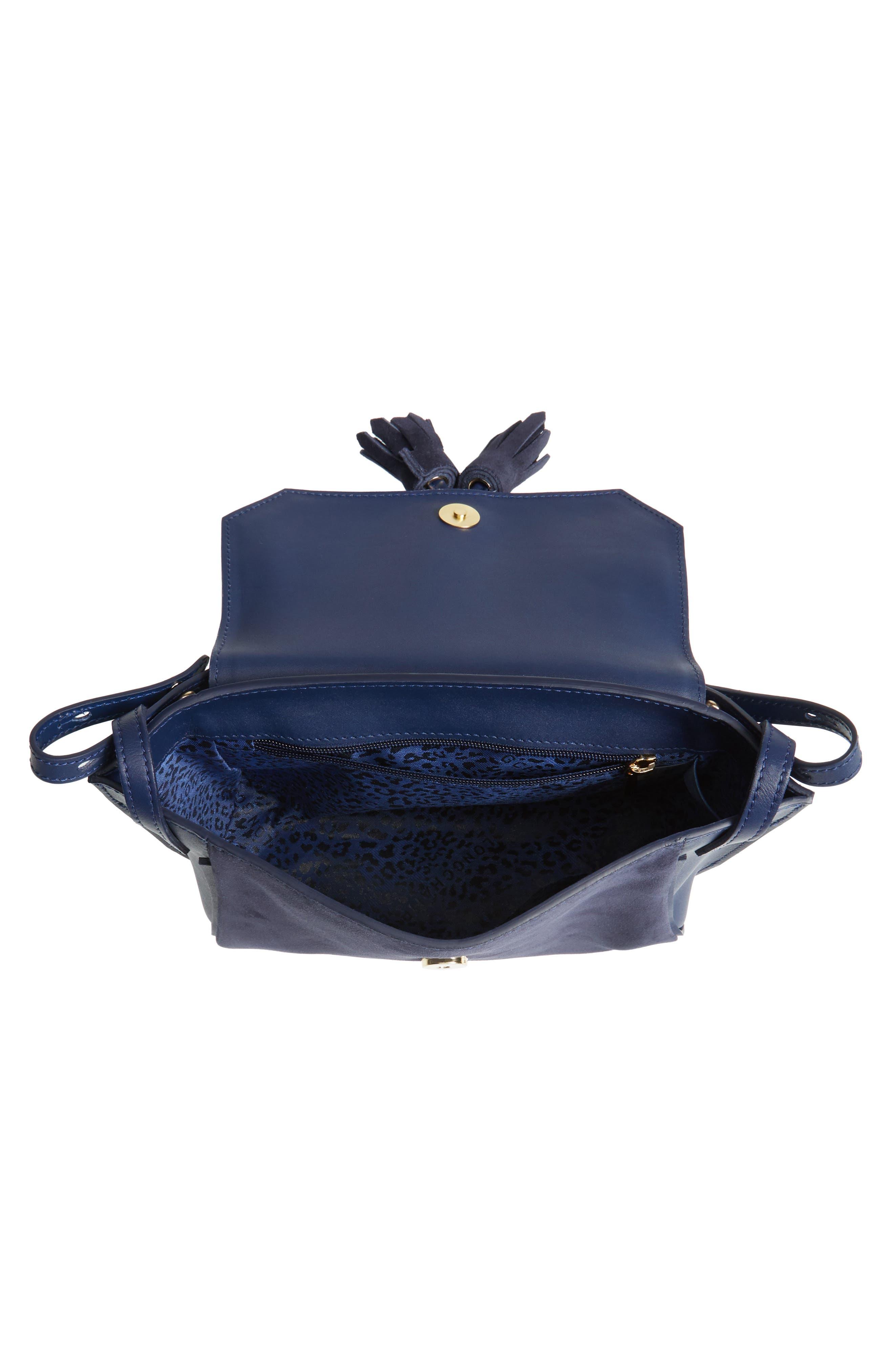 Small Penelope Leather Crossbody Bag,                             Alternate thumbnail 4, color,                             400