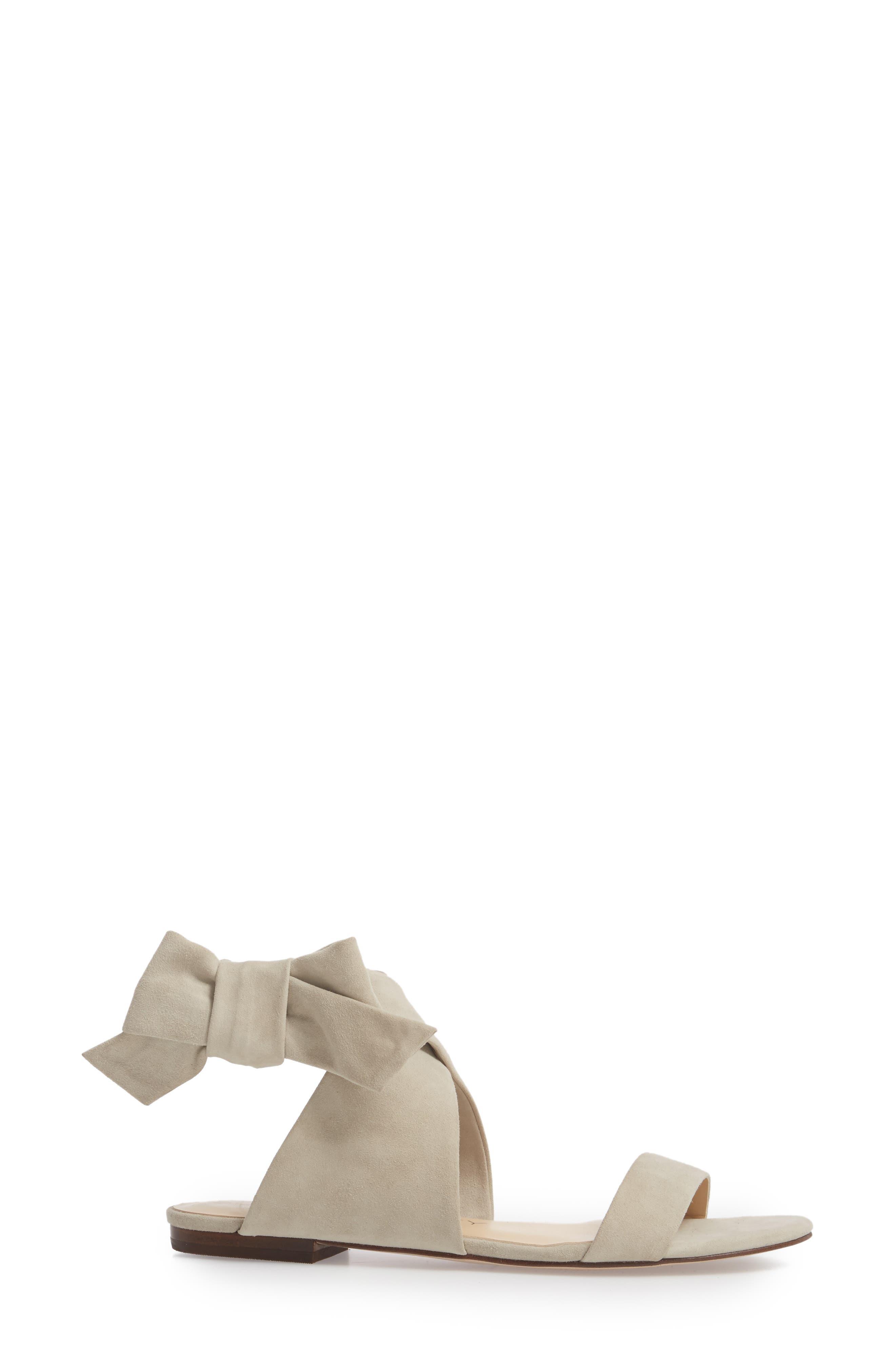 Calynda Bow Ankle Wrap Sandal,                             Alternate thumbnail 3, color,                             020