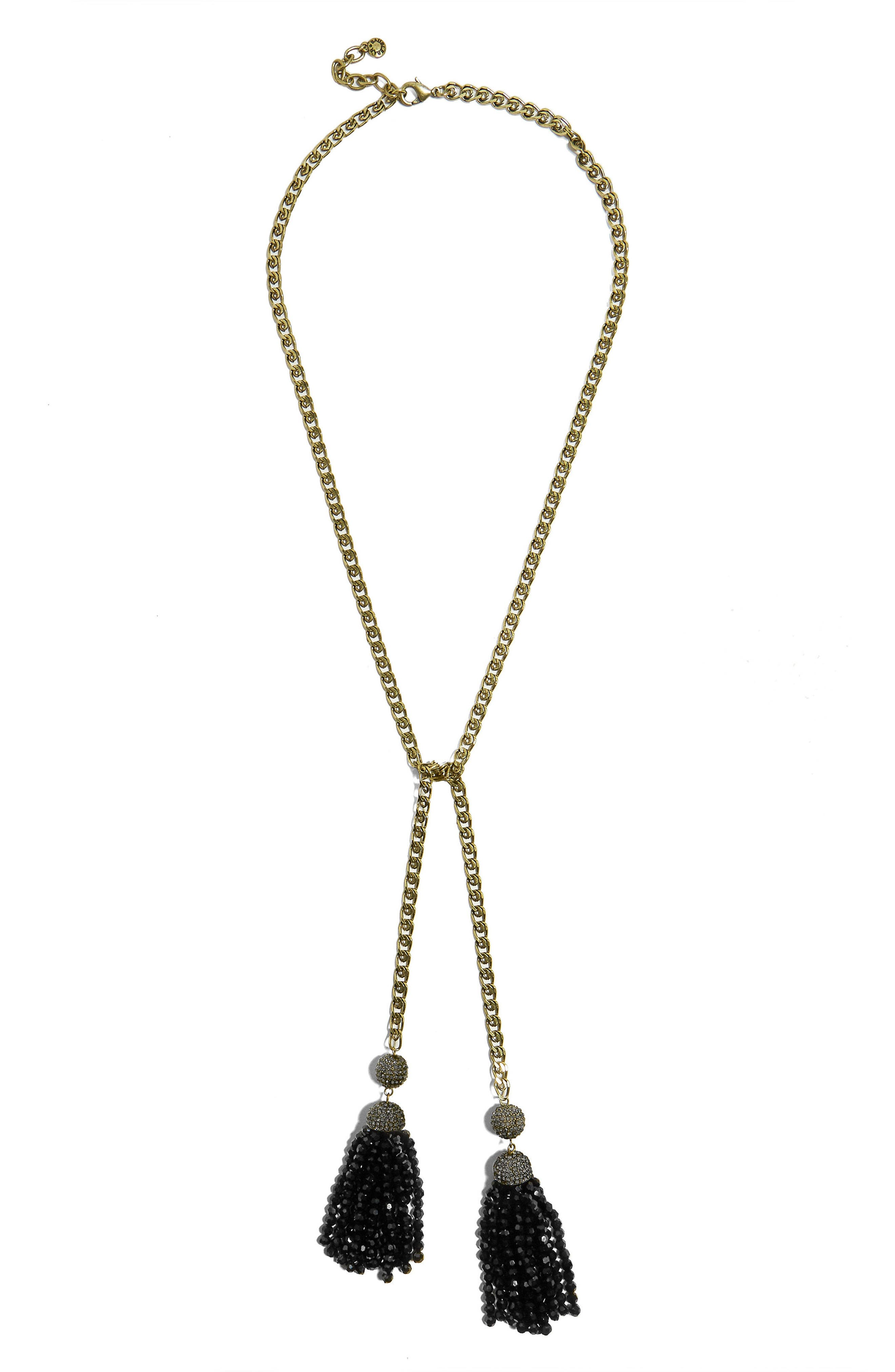Tinsley Lariat Tassel Necklace,                             Main thumbnail 1, color,                             001
