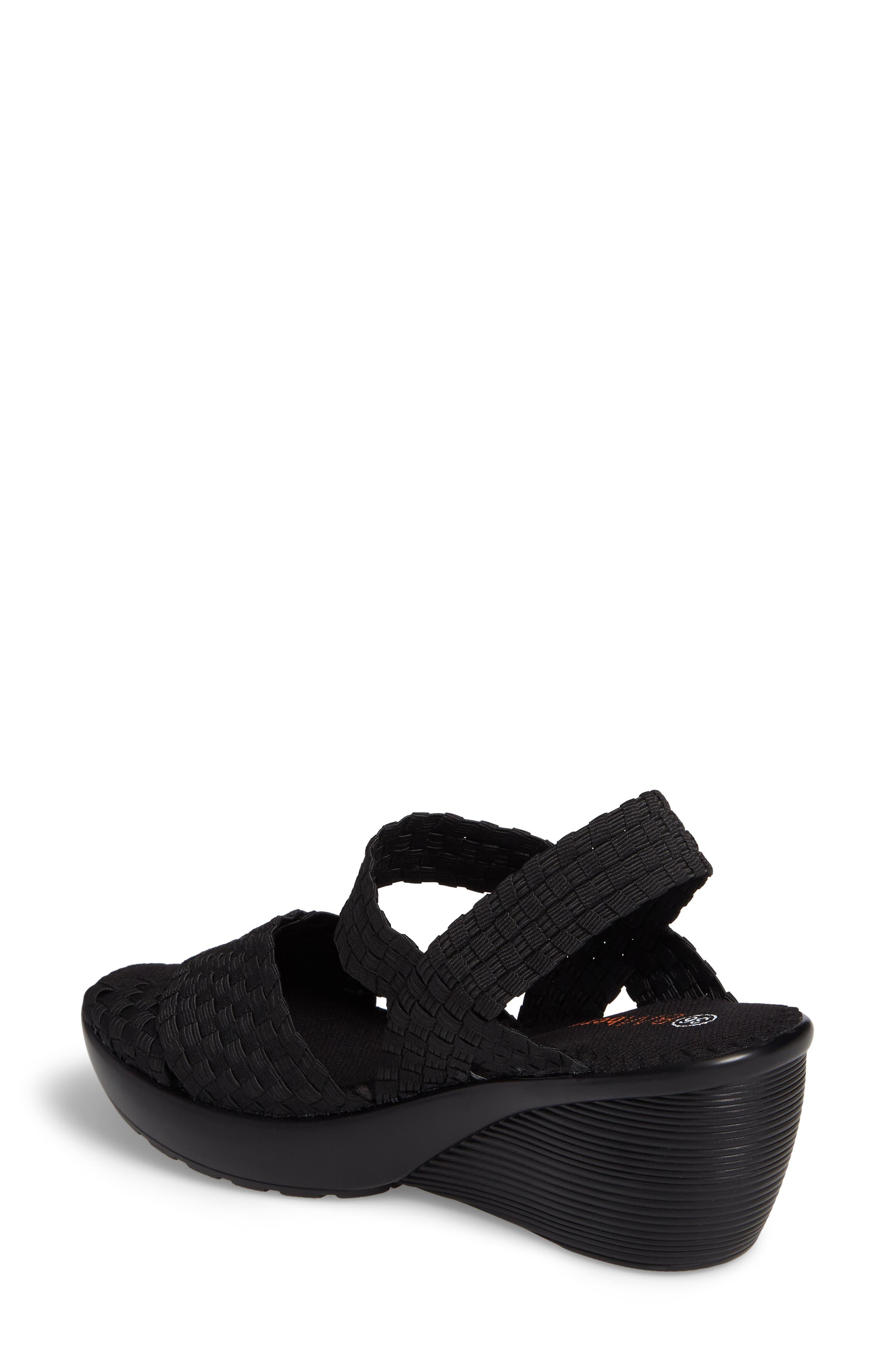 Fresh Buttercup Sandal,                             Alternate thumbnail 2, color,                             BLACK FABRIC