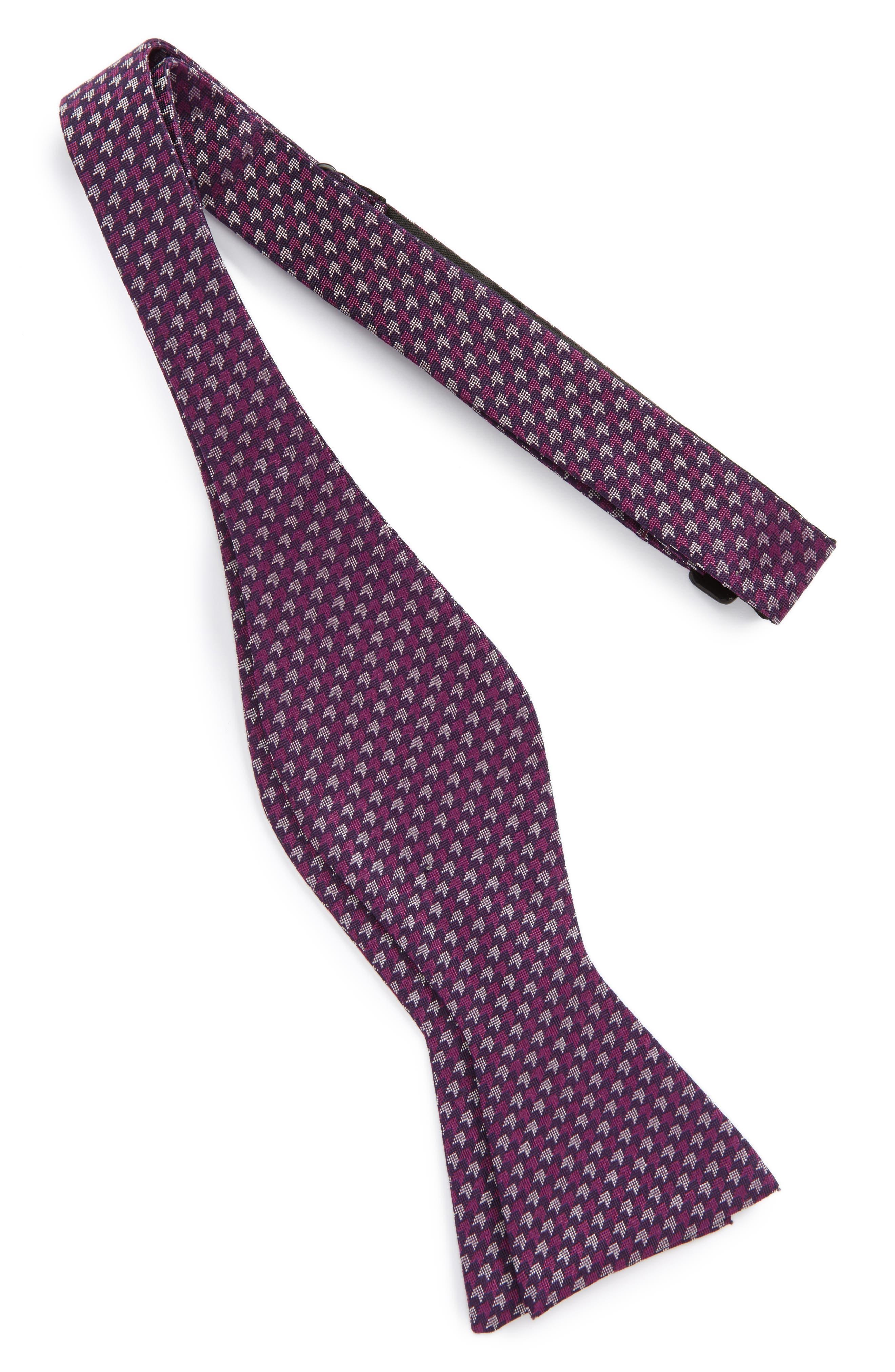 One Way Geometric Silk Bow Tie,                             Main thumbnail 3, color,