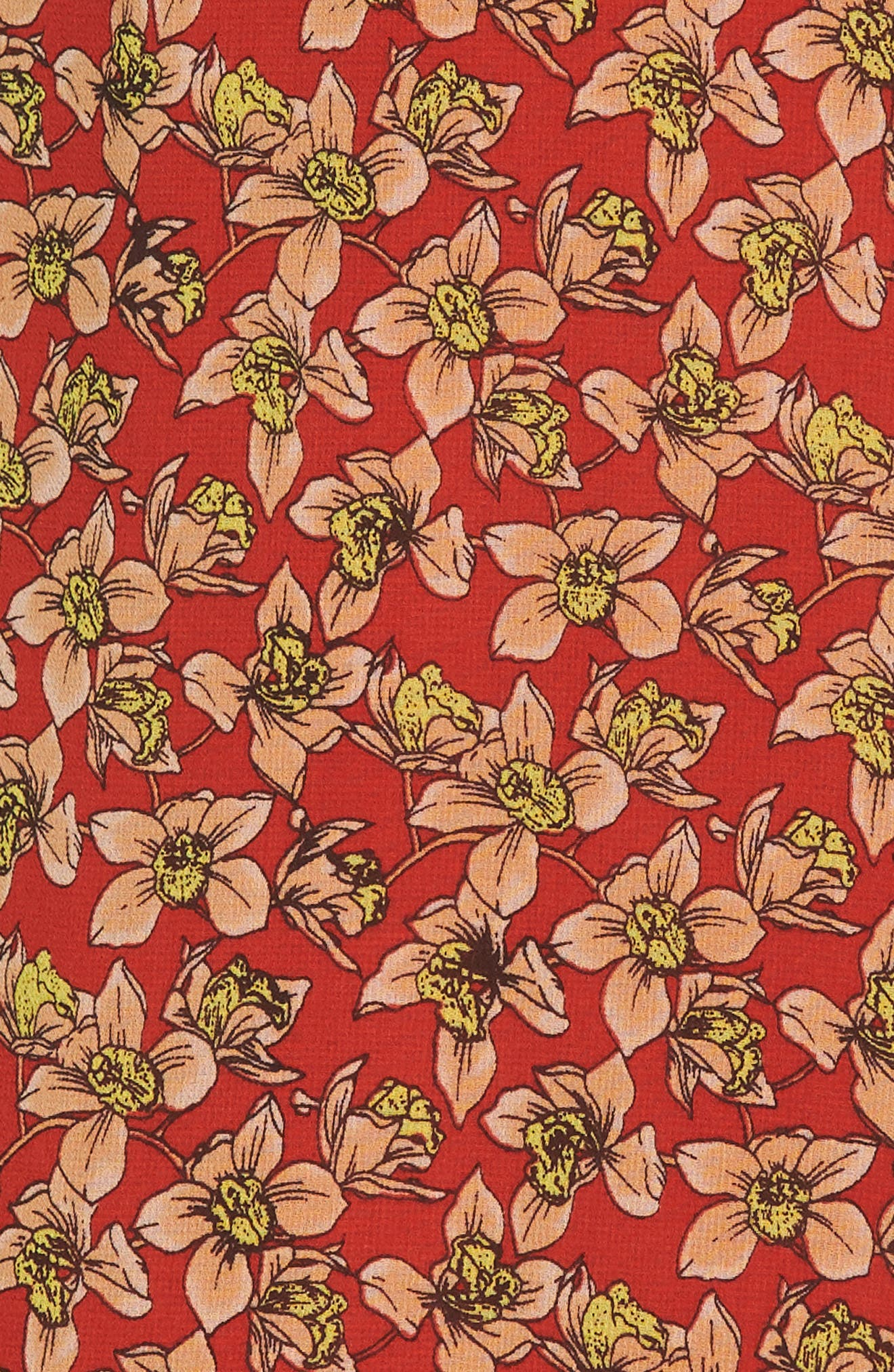 Ana Floral Wrap Dress,                             Alternate thumbnail 5, color,                             603