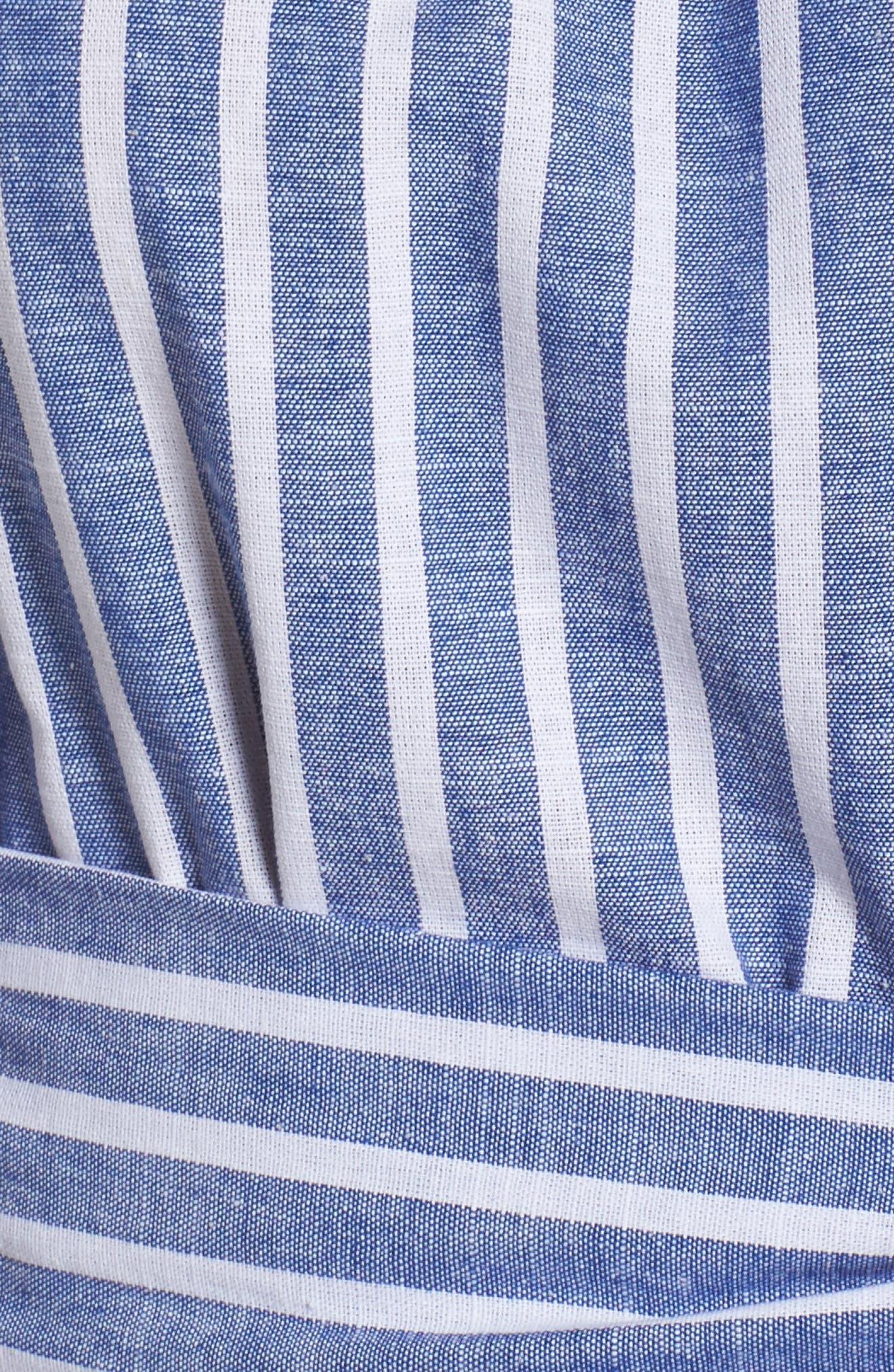 Off the Shoulder Tie Waist Dress,                             Alternate thumbnail 5, color,                             407