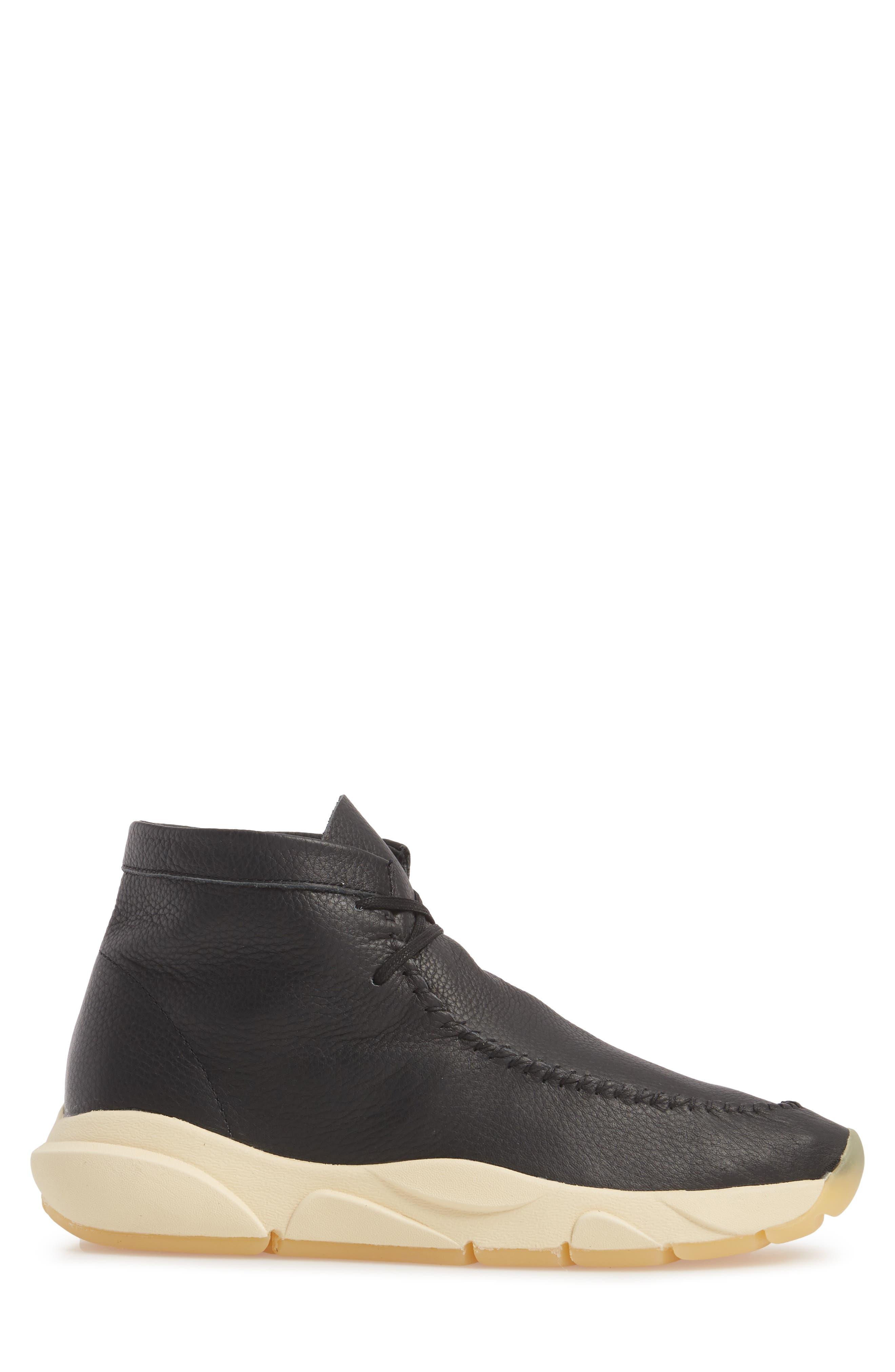 Castas Asymmetrical Chukka Sneaker,                             Alternate thumbnail 3, color,                             001