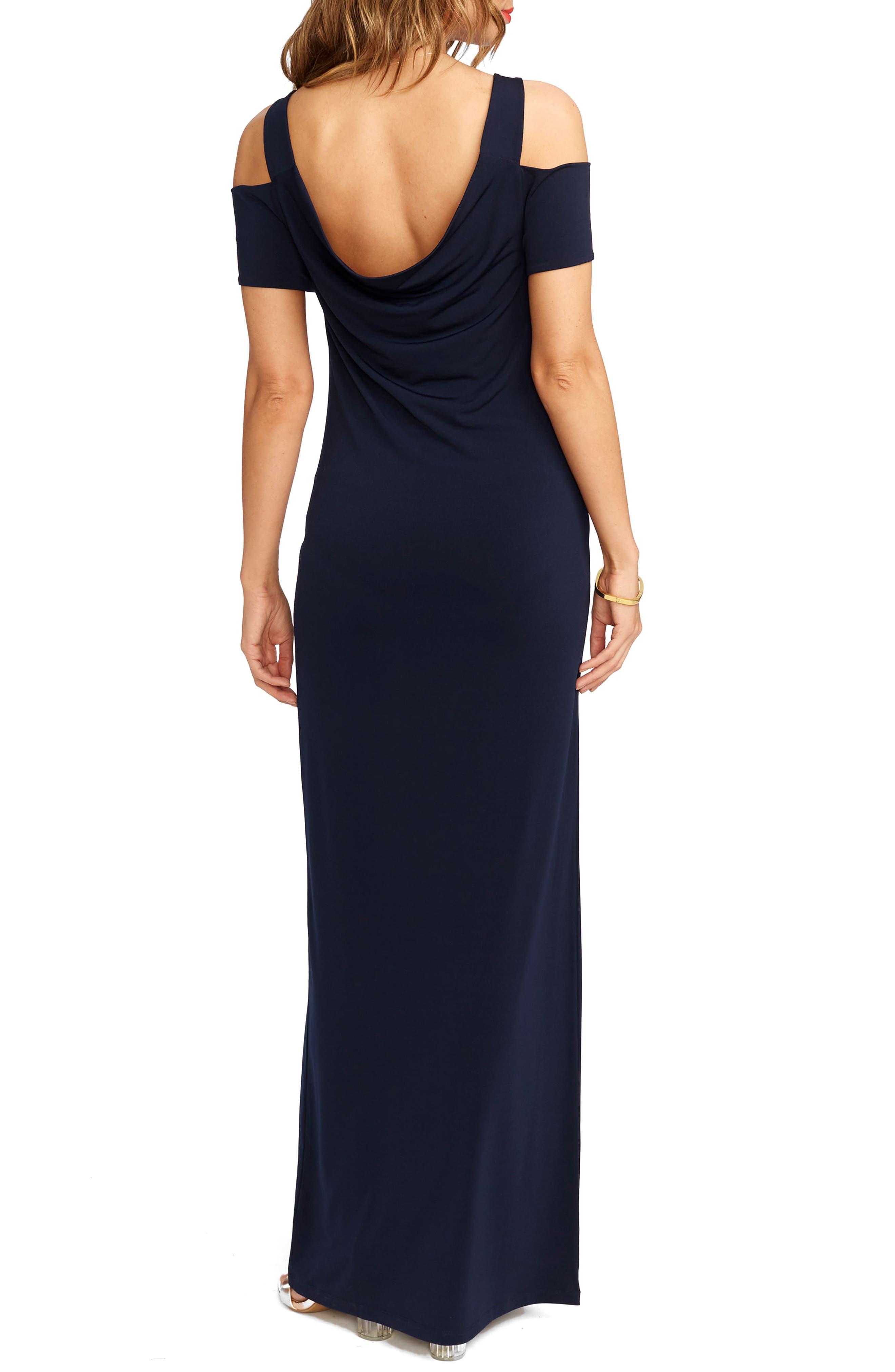 Jillian Cold Shoulder Maternity Maxi Dress,                             Alternate thumbnail 2, color,