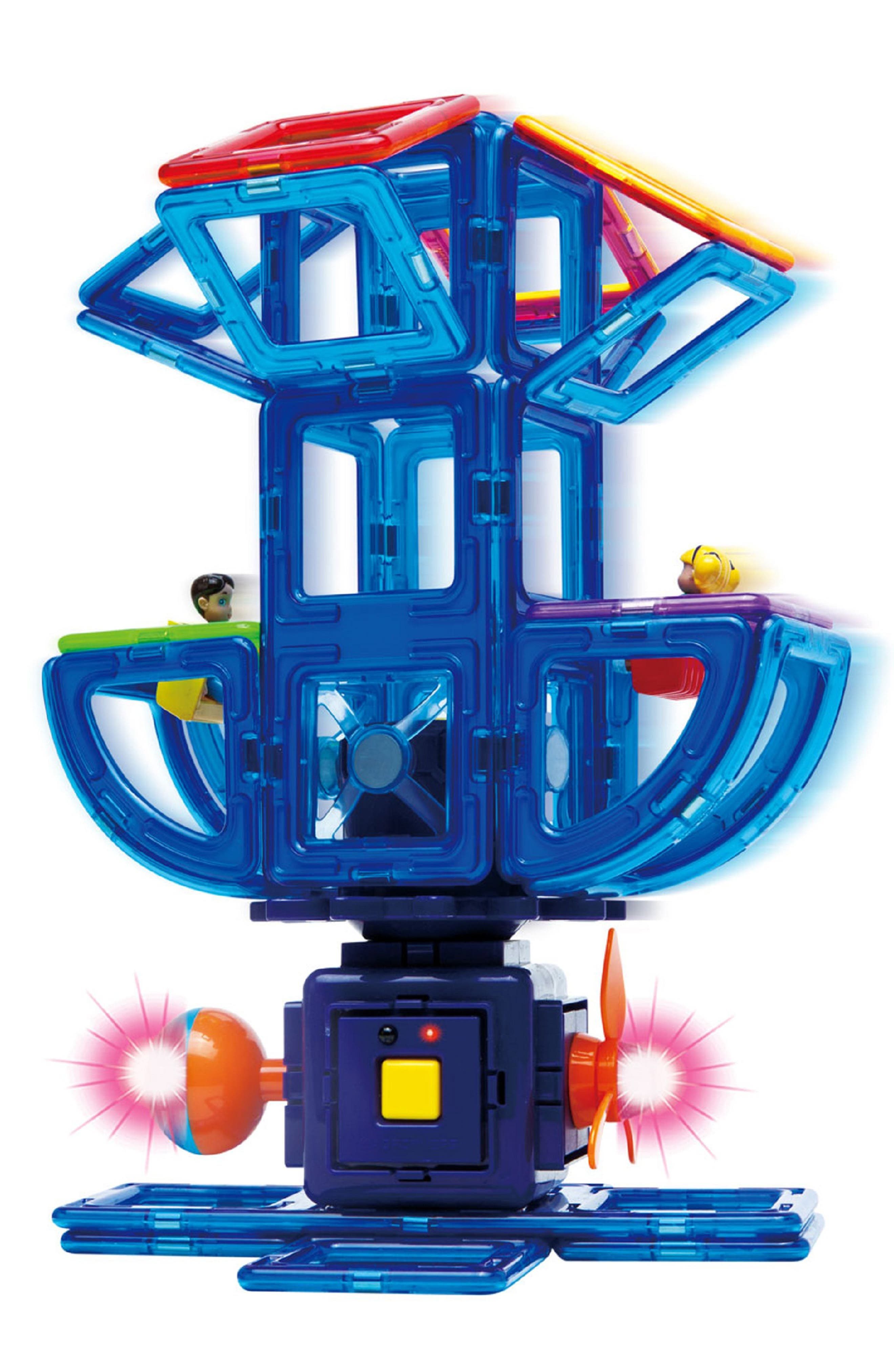 'Power Gear' Lighted & Powered Magnetic Construction Set,                             Alternate thumbnail 3, color,                             Rainbow
