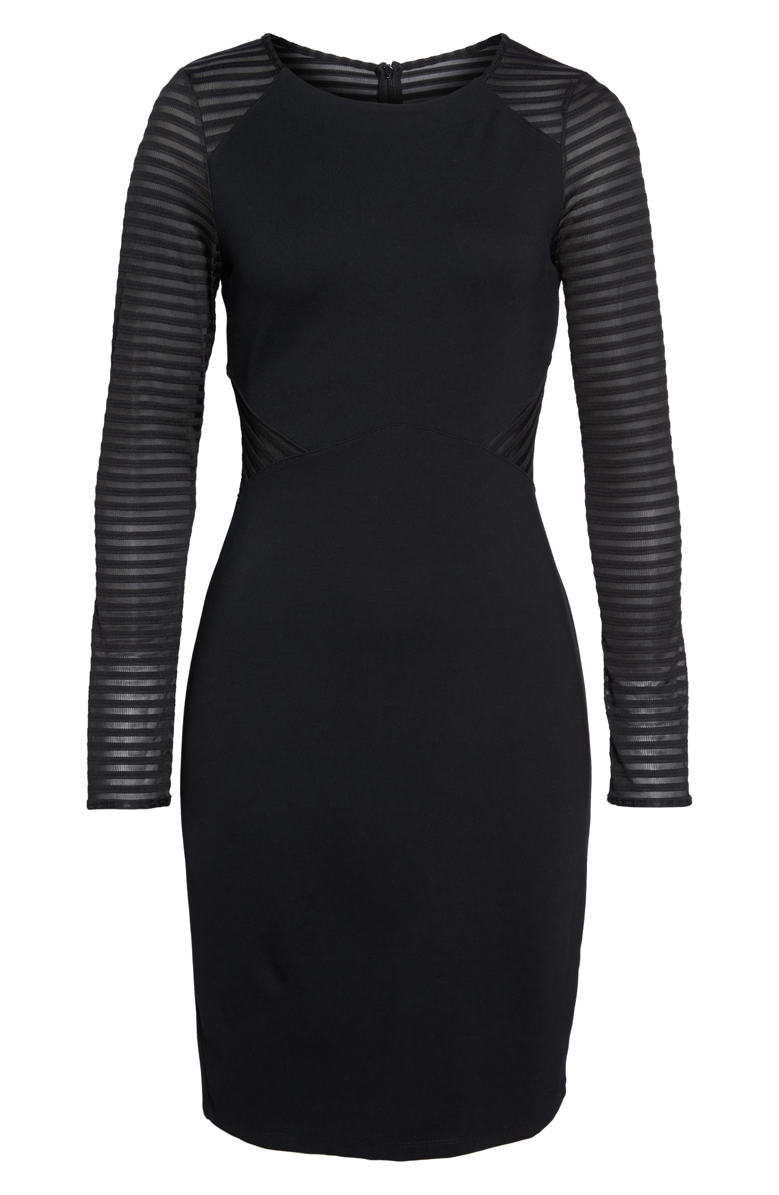 Thiestis Body-Con Dress,                             Alternate thumbnail 6, color,                             002