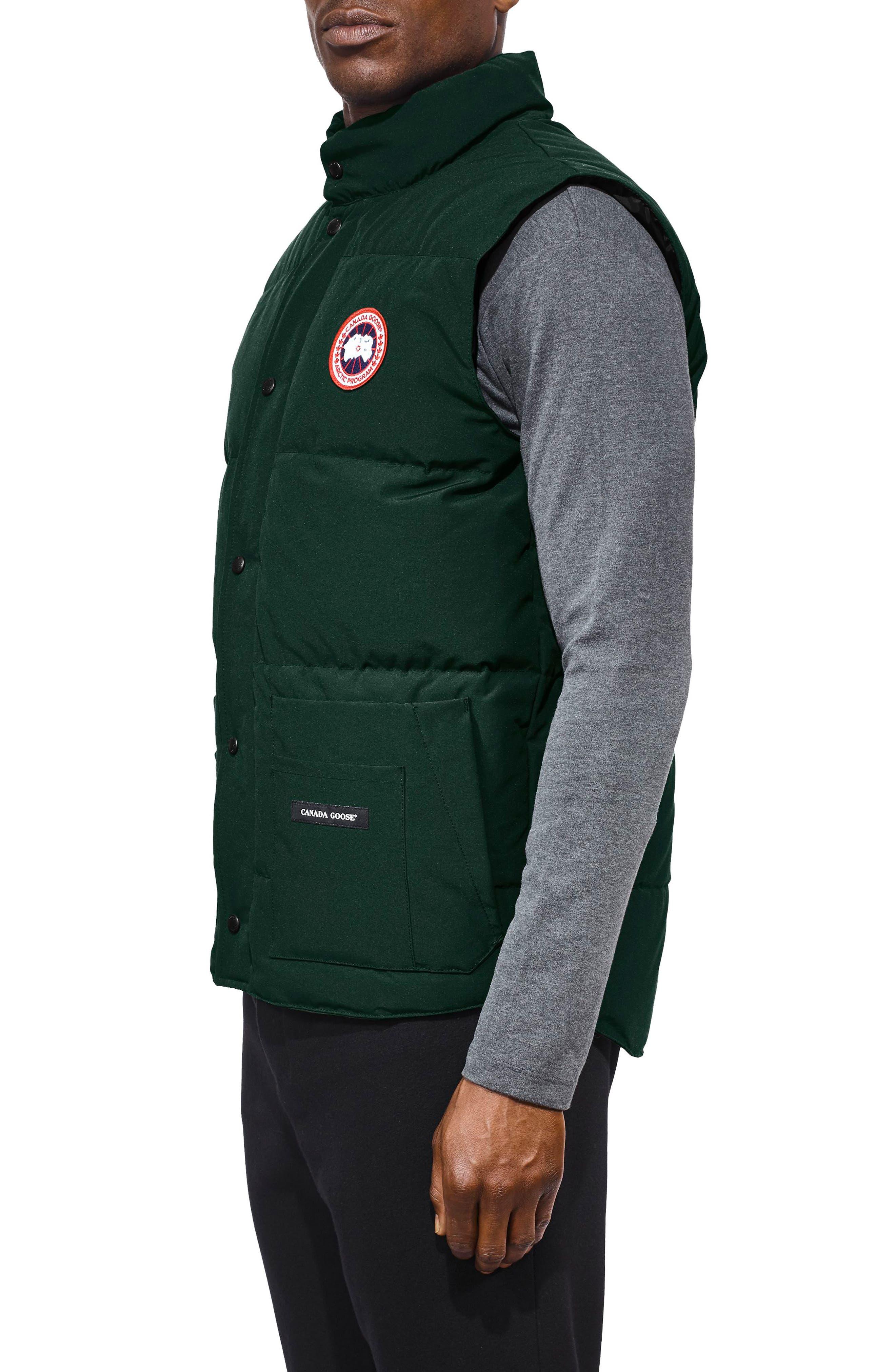 Freestyle Regular Fit Down Vest,                             Alternate thumbnail 3, color,                             SPRUCE