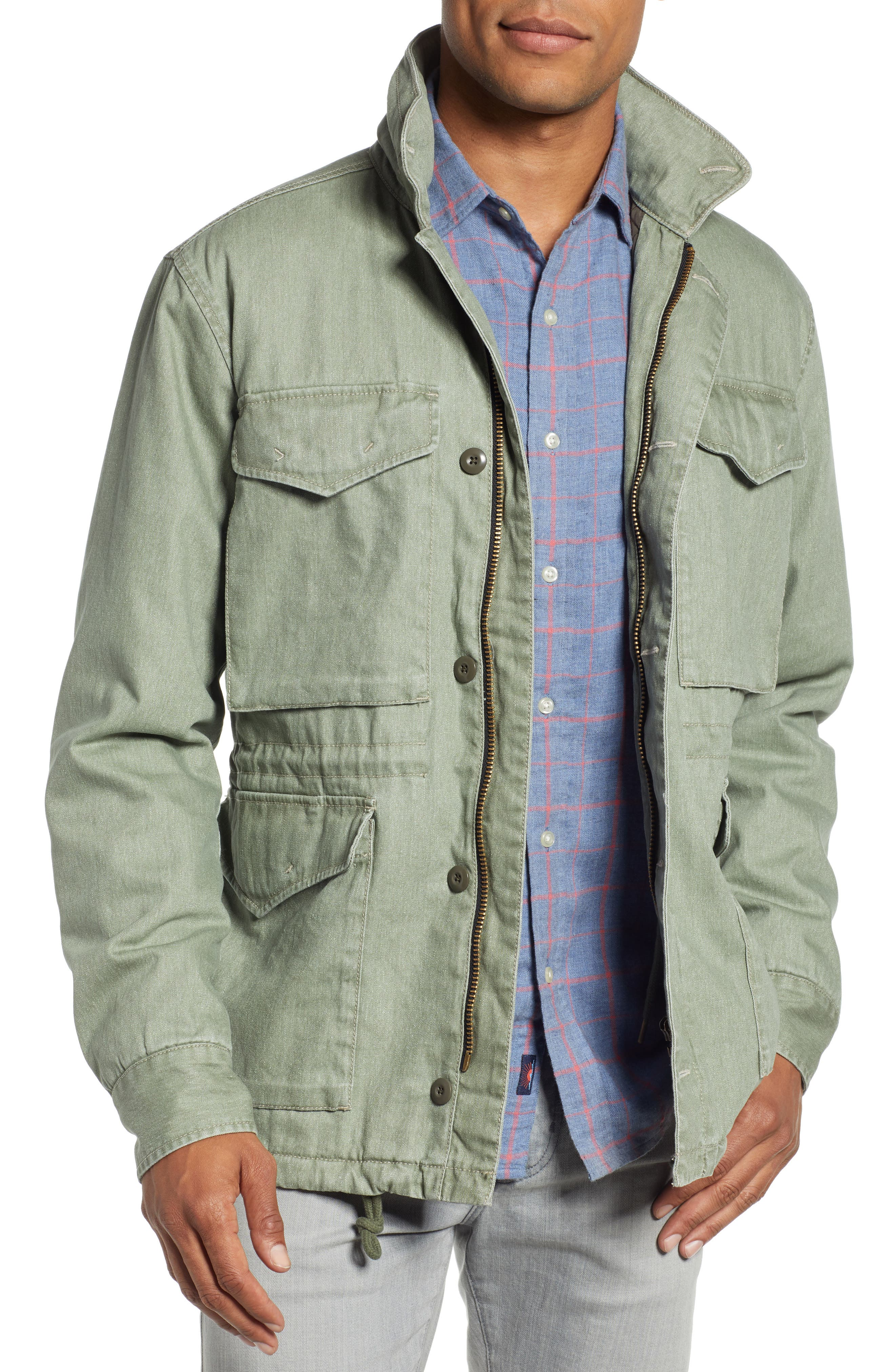 Vintage M-65 Jacket,                         Main,                         color, OLIVE