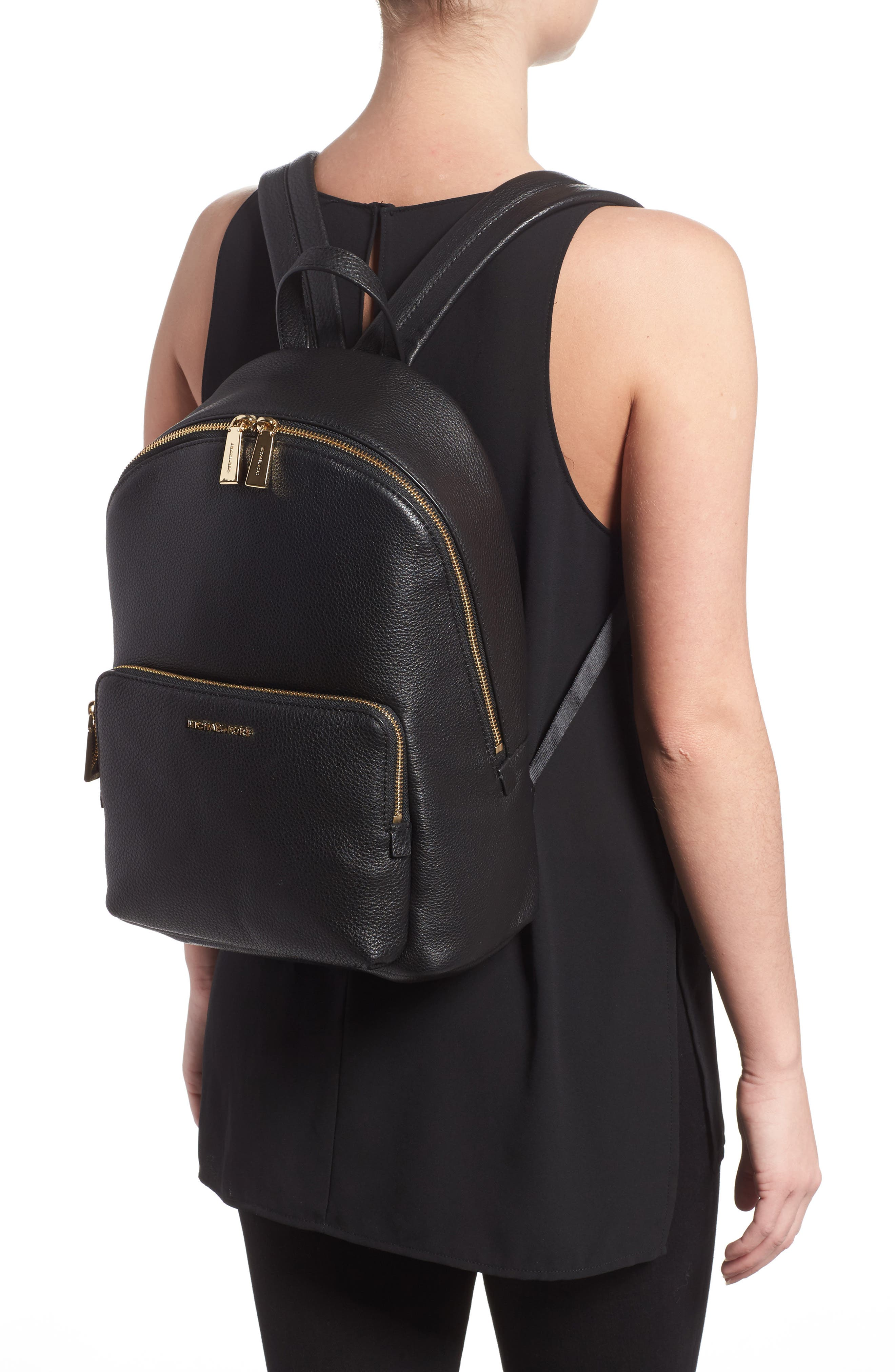 Large Wythe Leather Backpack,                             Alternate thumbnail 2, color,                             001