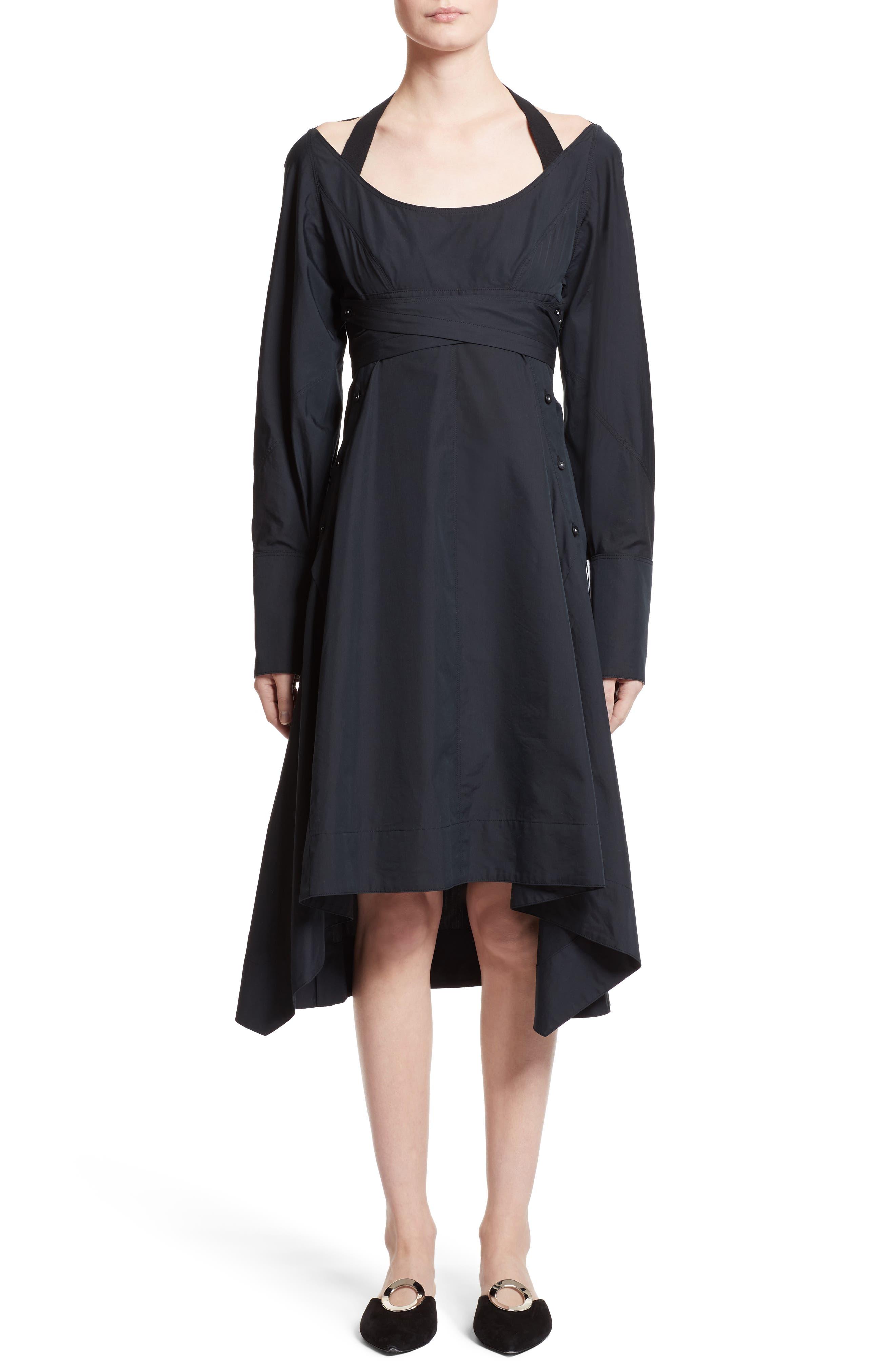 Cotton Poplin Wrap Dress,                             Alternate thumbnail 5, color,