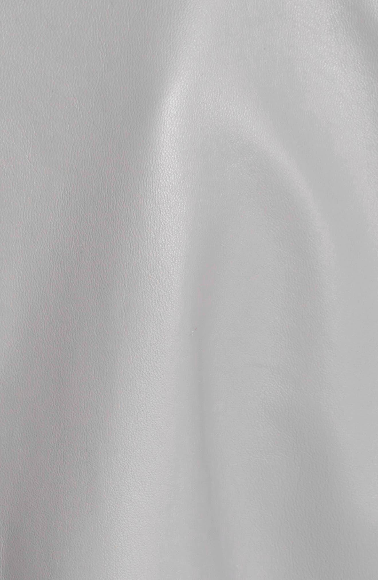Studded Nappa Leather Jacket,                             Alternate thumbnail 6, color,                             020