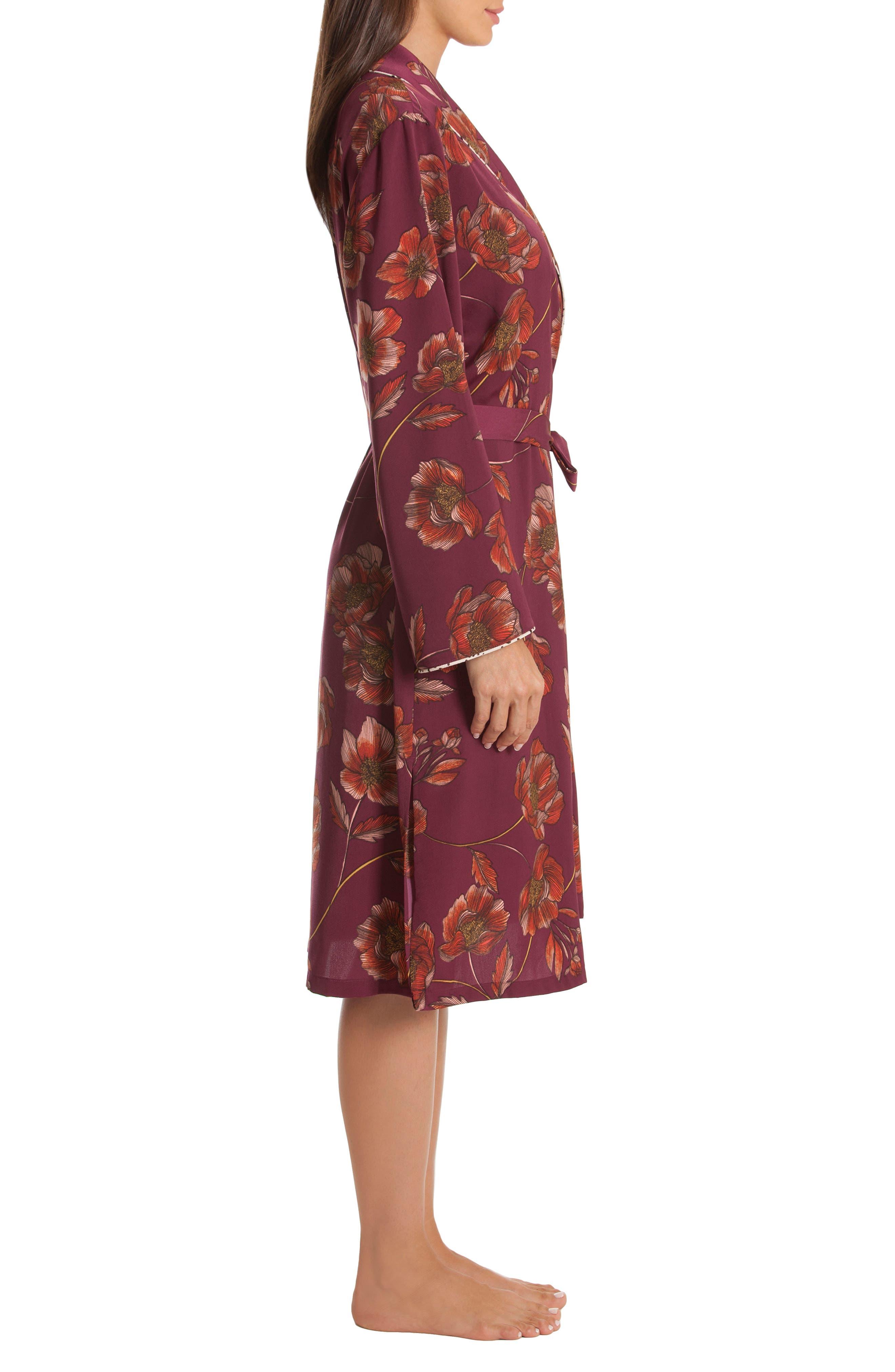 Austin Floral Robe,                             Alternate thumbnail 3, color,                             PLUM