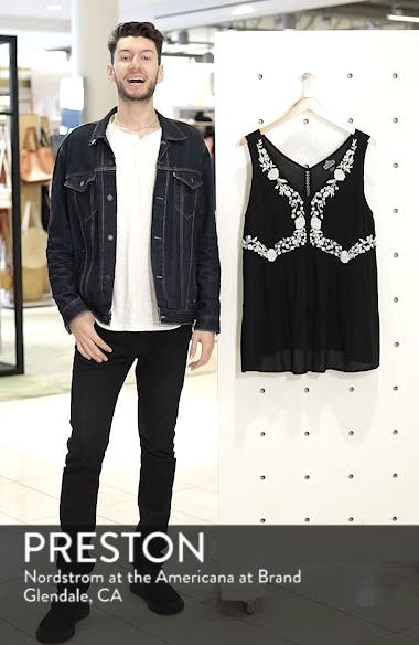Embroidered Woven Tank, sales video thumbnail