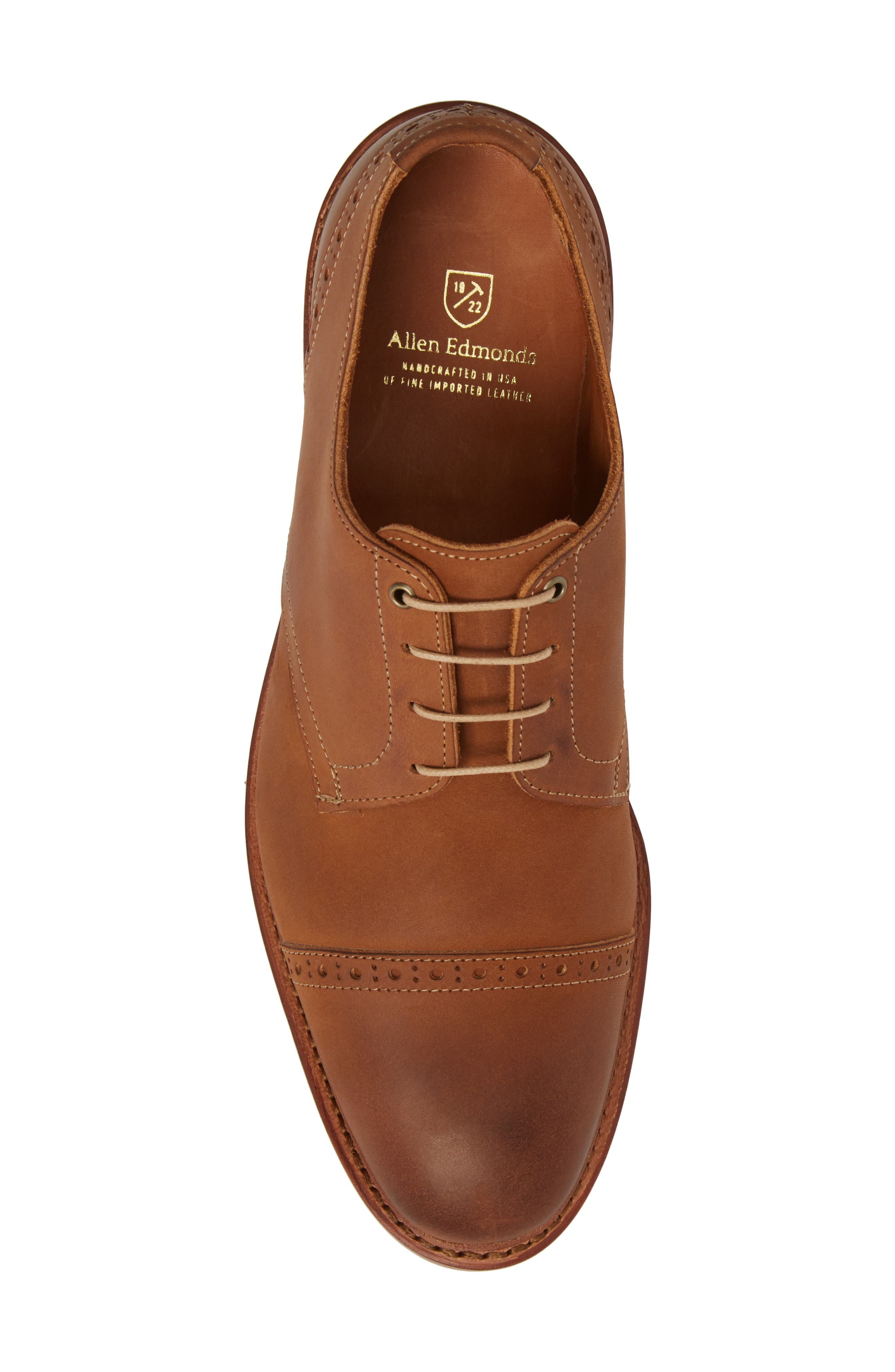 Kitsap Cap Toe Derby,                             Alternate thumbnail 5, color,                             TAN LEATHER