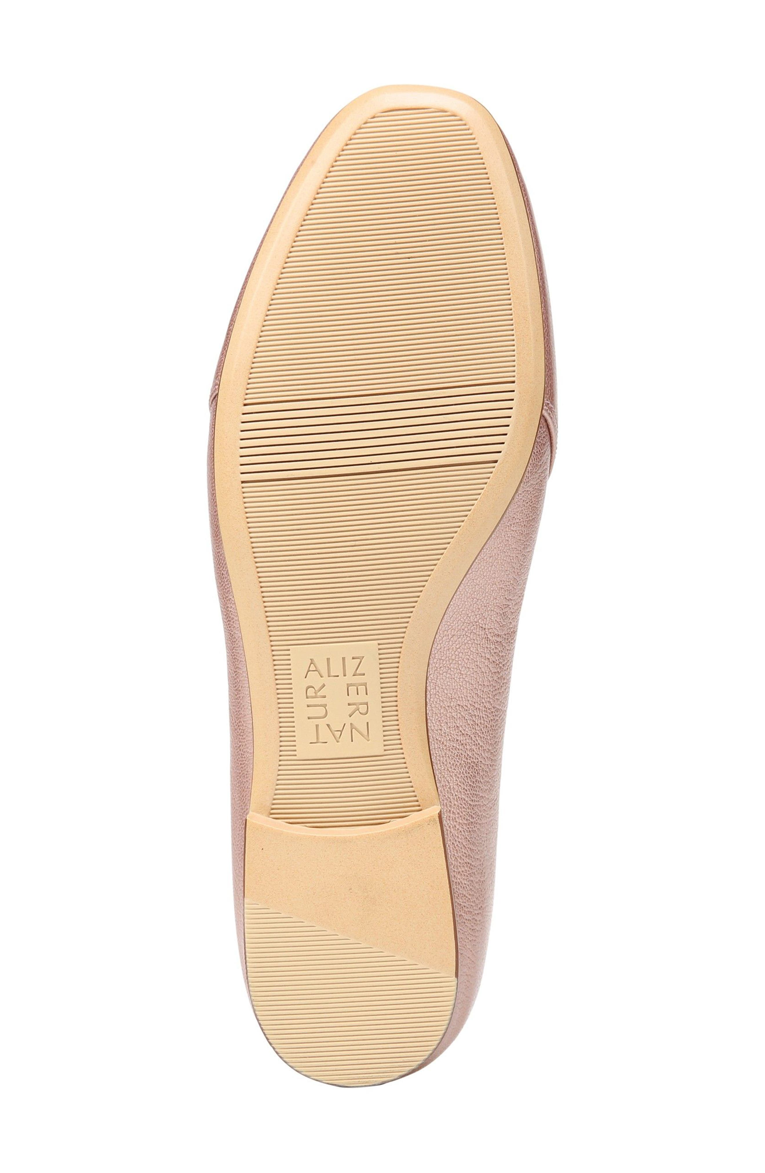 Emiline Flat Loafer,                             Alternate thumbnail 6, color,                             ROSE GOLD LEATHER
