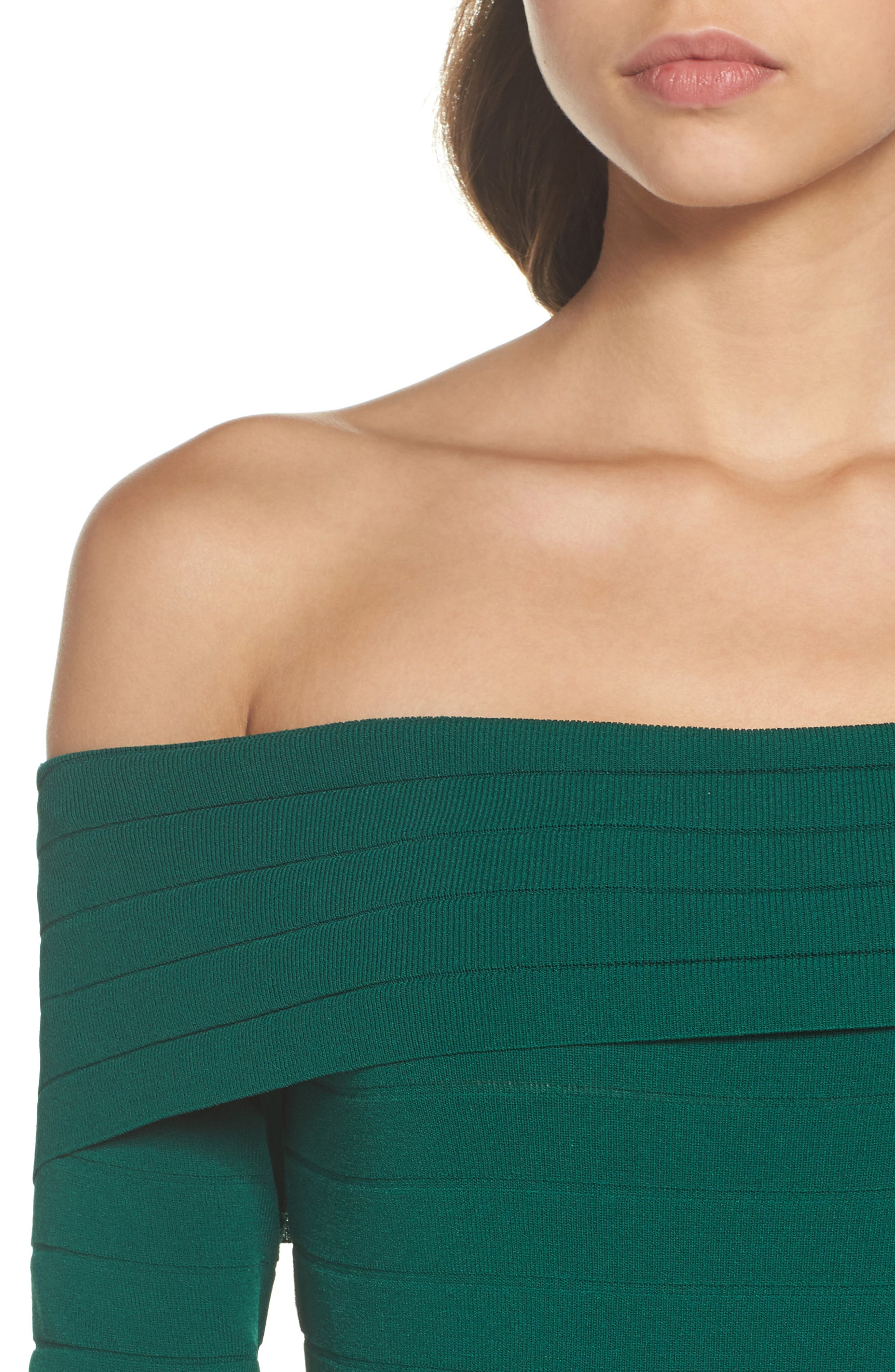 Bandage Midi Dress,                             Alternate thumbnail 17, color,