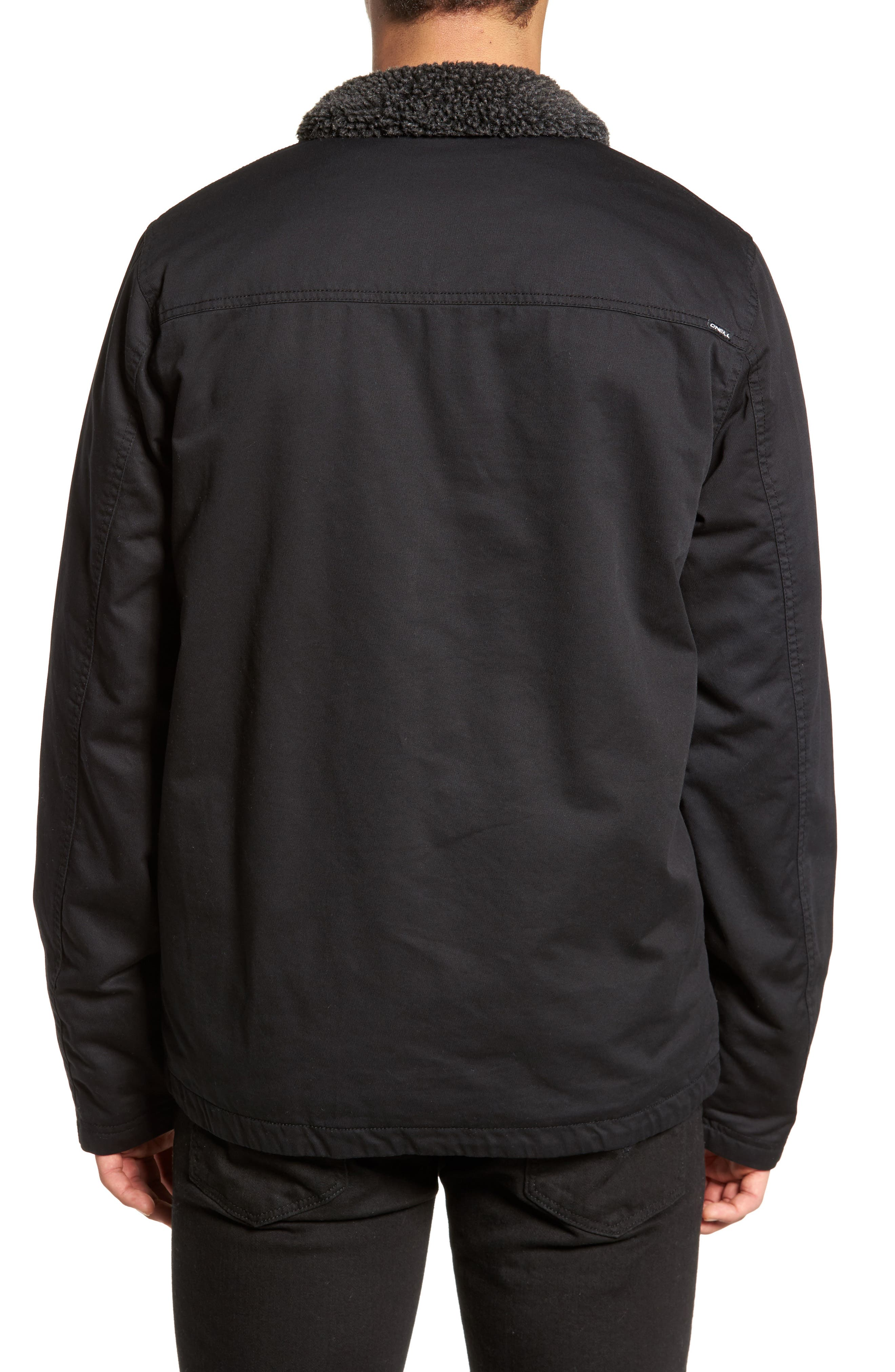 Burnside Faux Shearling Trim Deck Jacket,                             Alternate thumbnail 2, color,                             001
