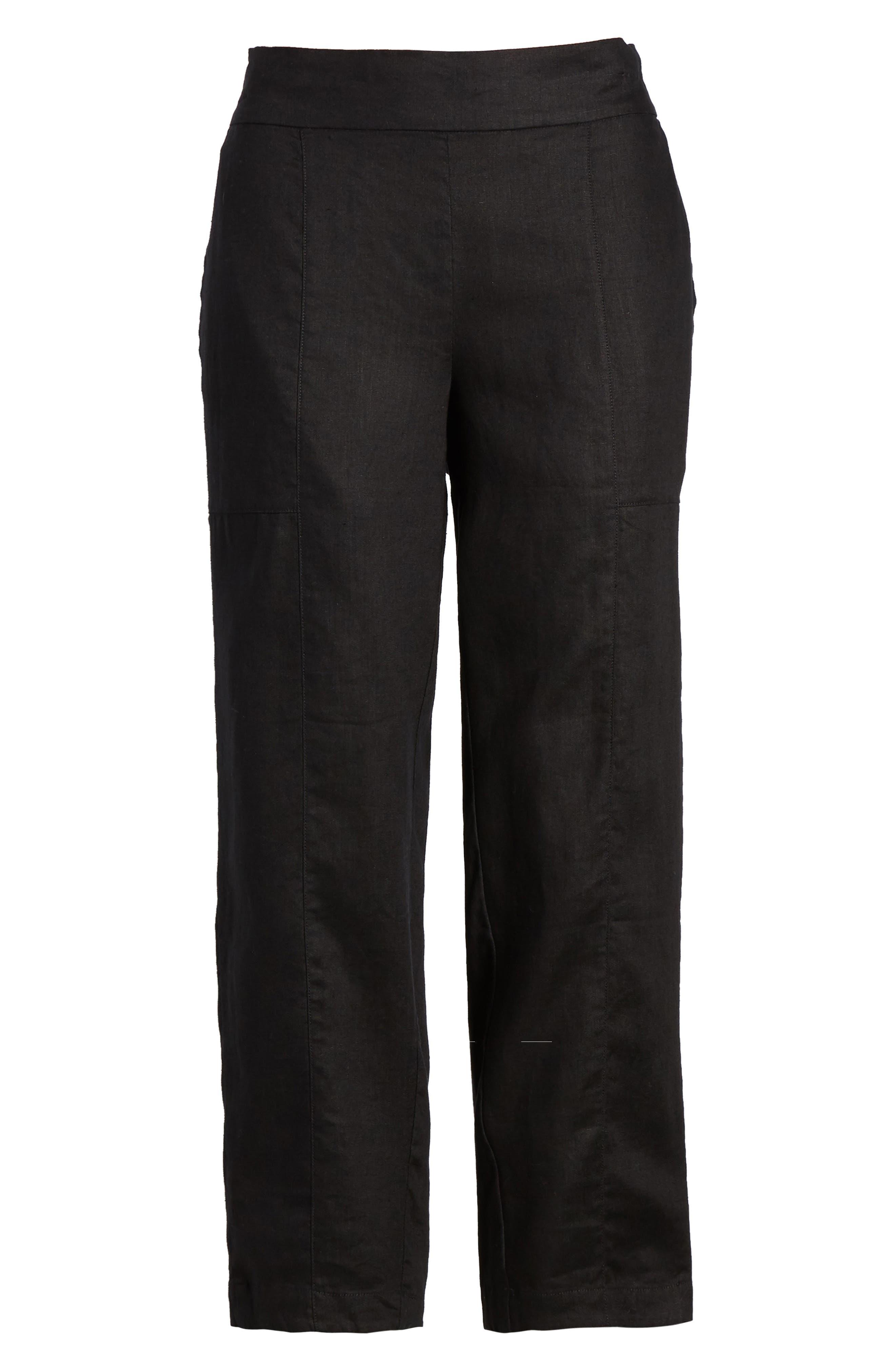 Organic Linen Crop Pants,                             Alternate thumbnail 22, color,