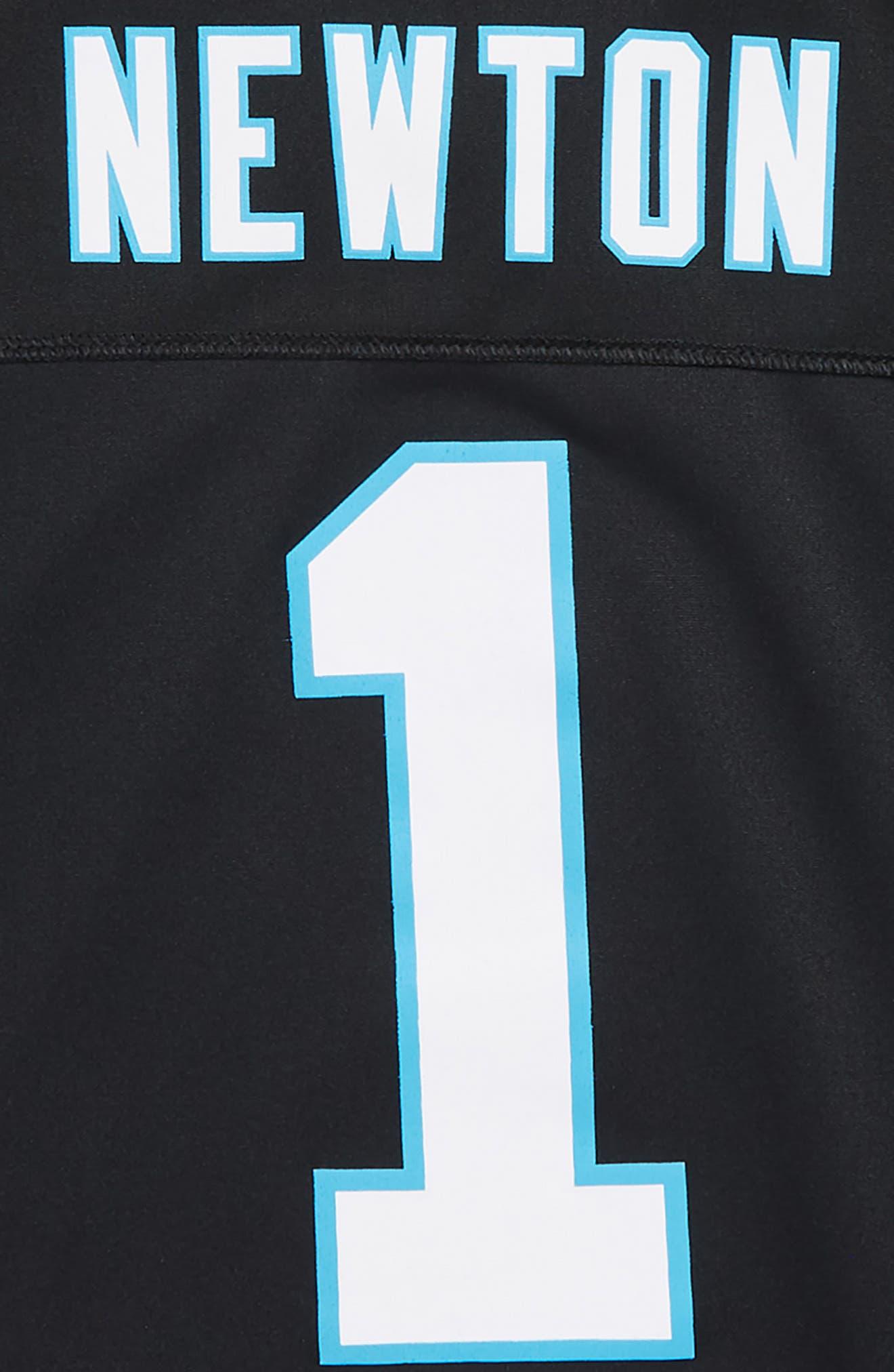 NFL Jersey T-Shirt,                             Alternate thumbnail 3, color,                             BLACK/ NEWTON