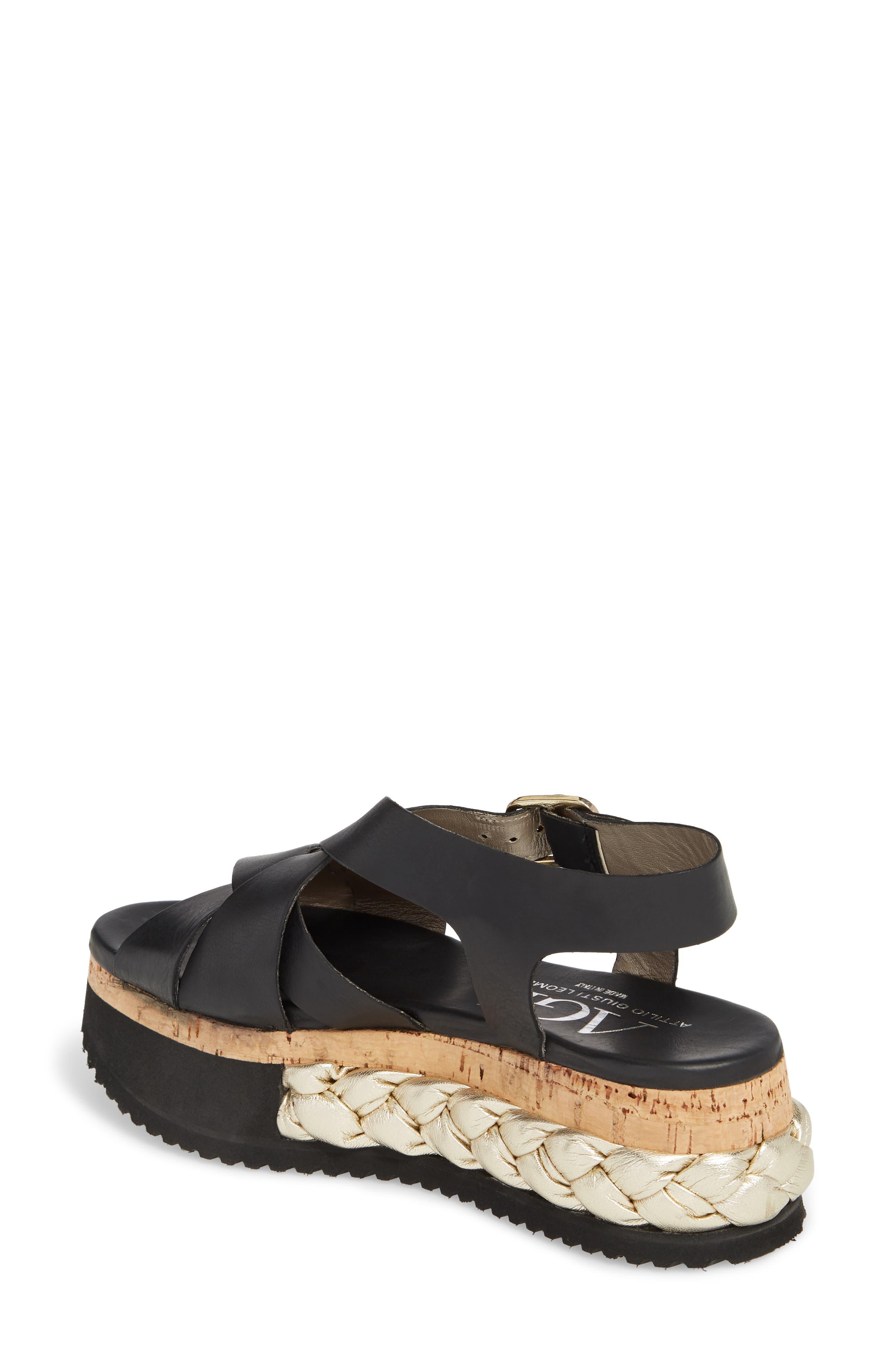 Braided Platform Sandal,                             Alternate thumbnail 2, color,