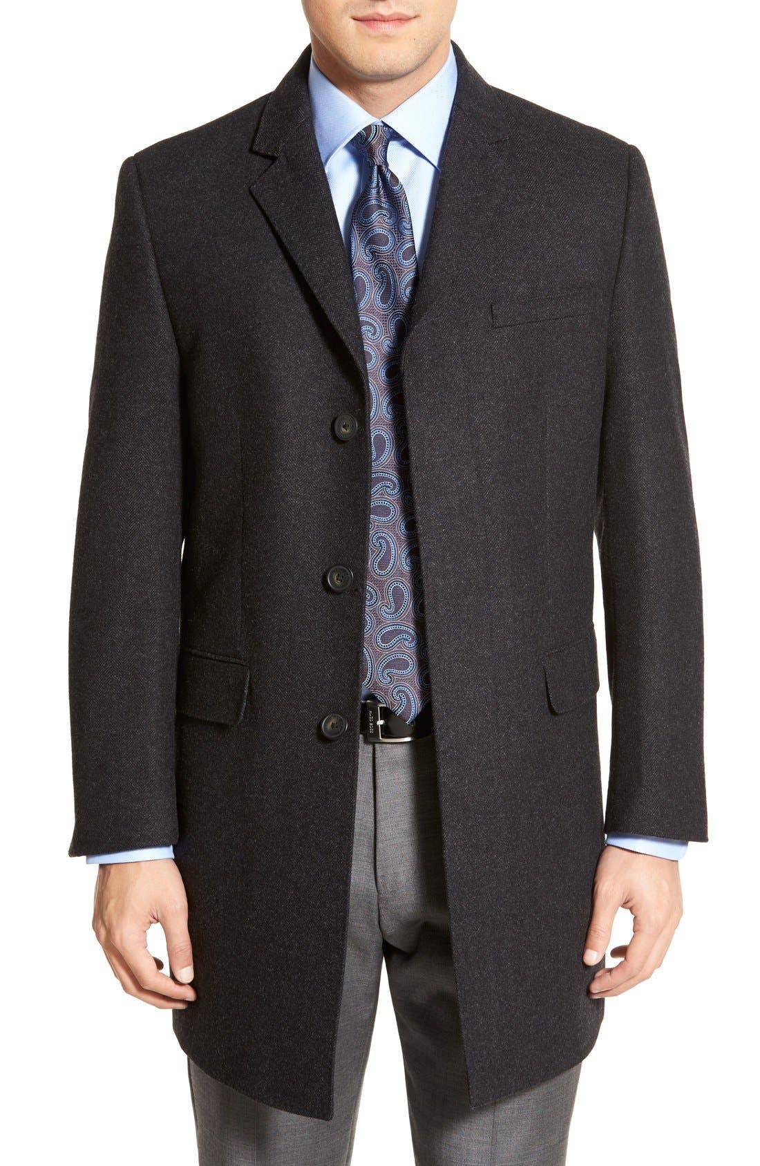 Maitland Modern Fit Wool Blend Overcoat,                             Main thumbnail 1, color,                             035