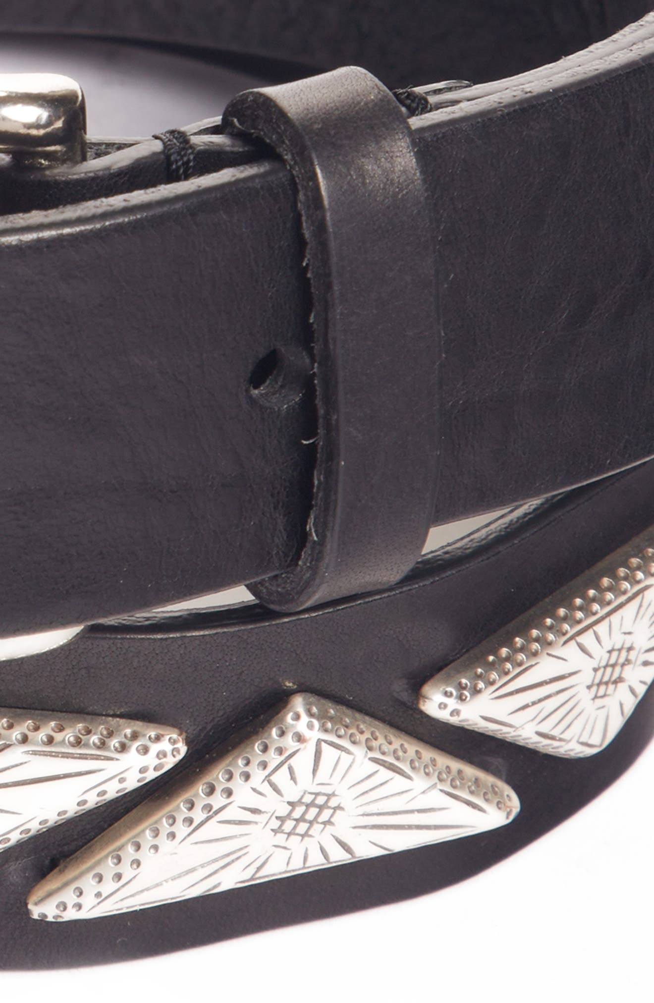 Nyzo Studded Leather Belt,                             Alternate thumbnail 2, color,                             001