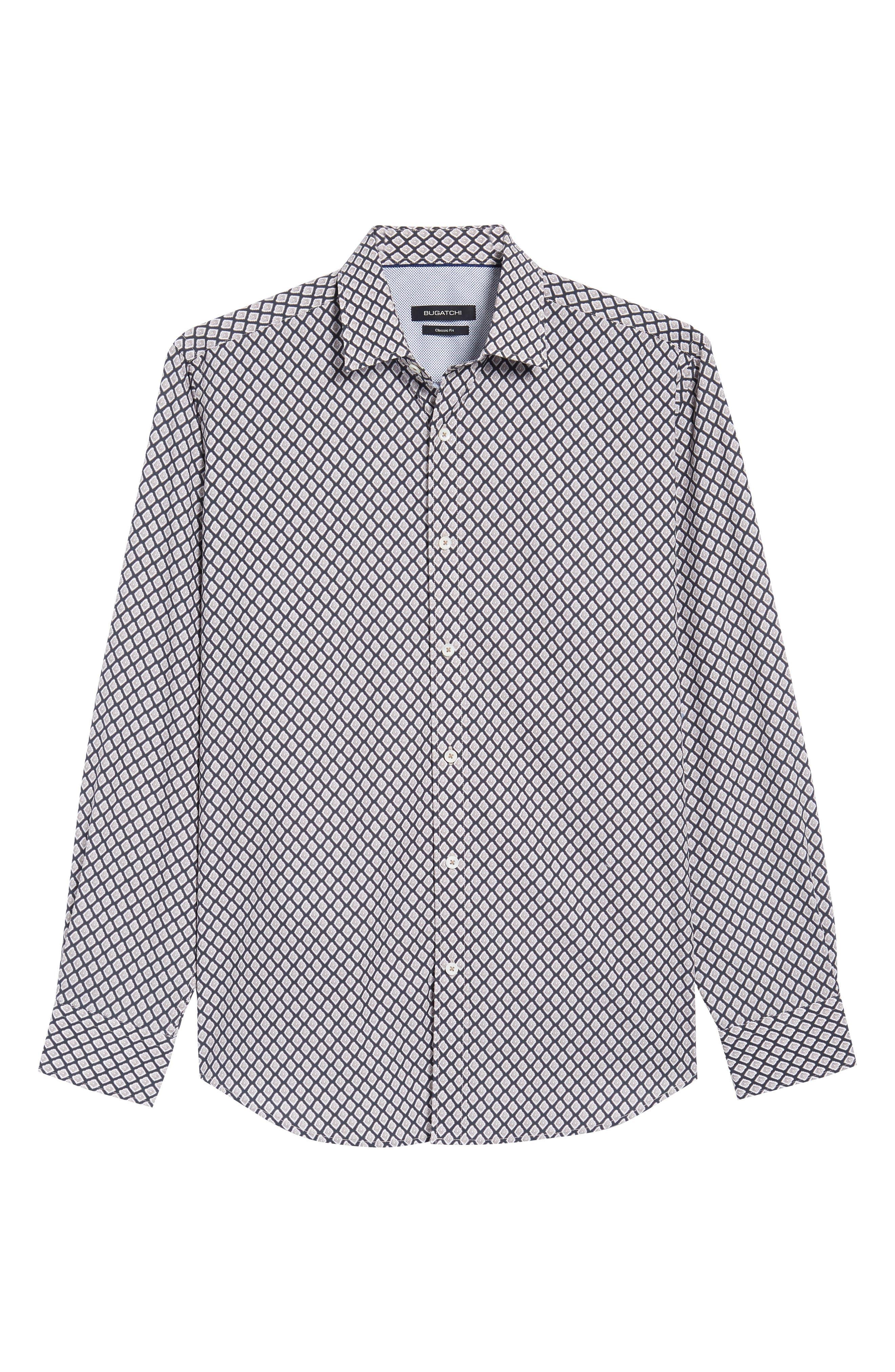 Classic Fit Woven Sport Shirt,                             Alternate thumbnail 6, color,                             271