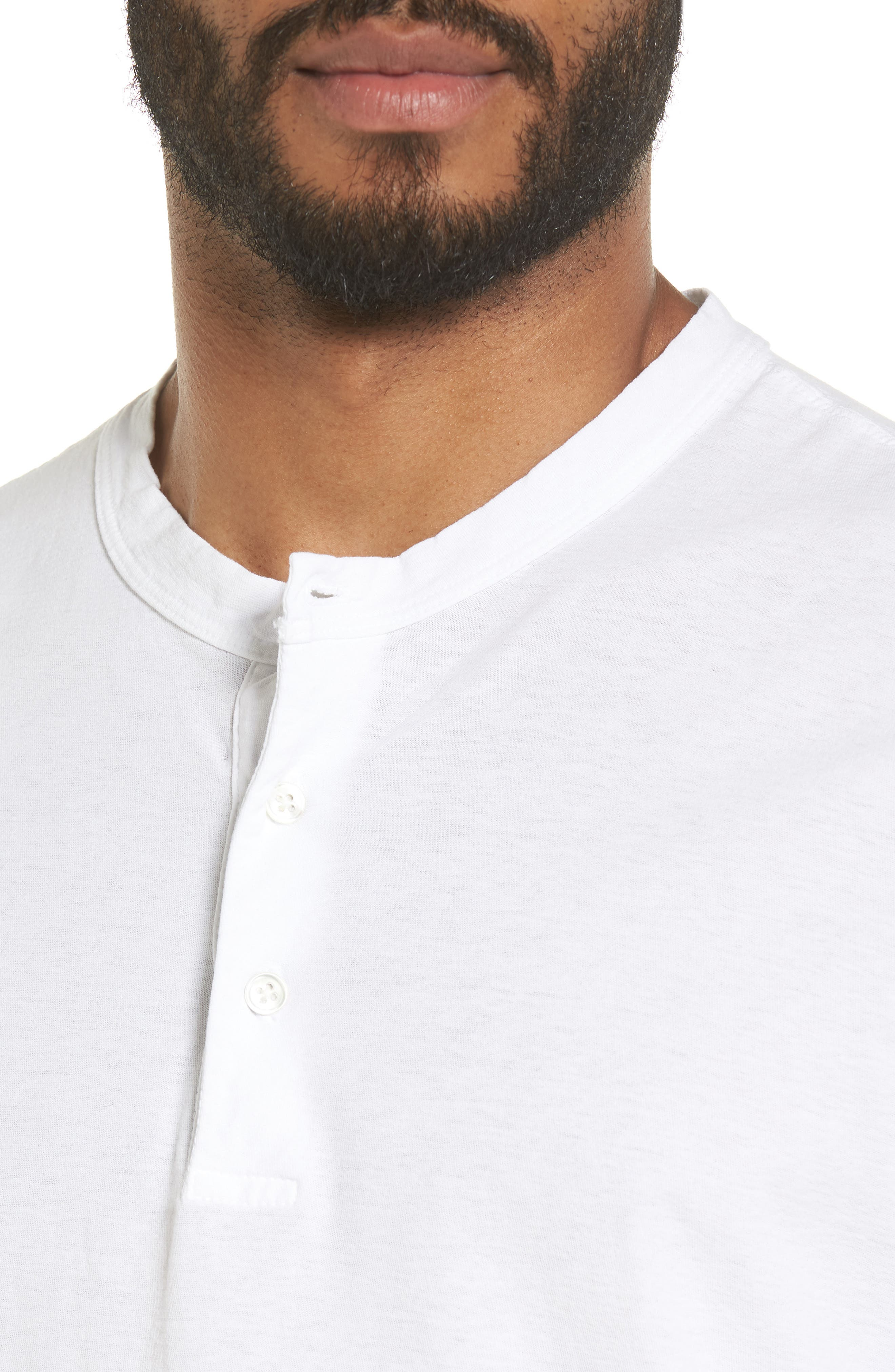 Classic High Twist Jersey Henley,                             Alternate thumbnail 4, color,                             100