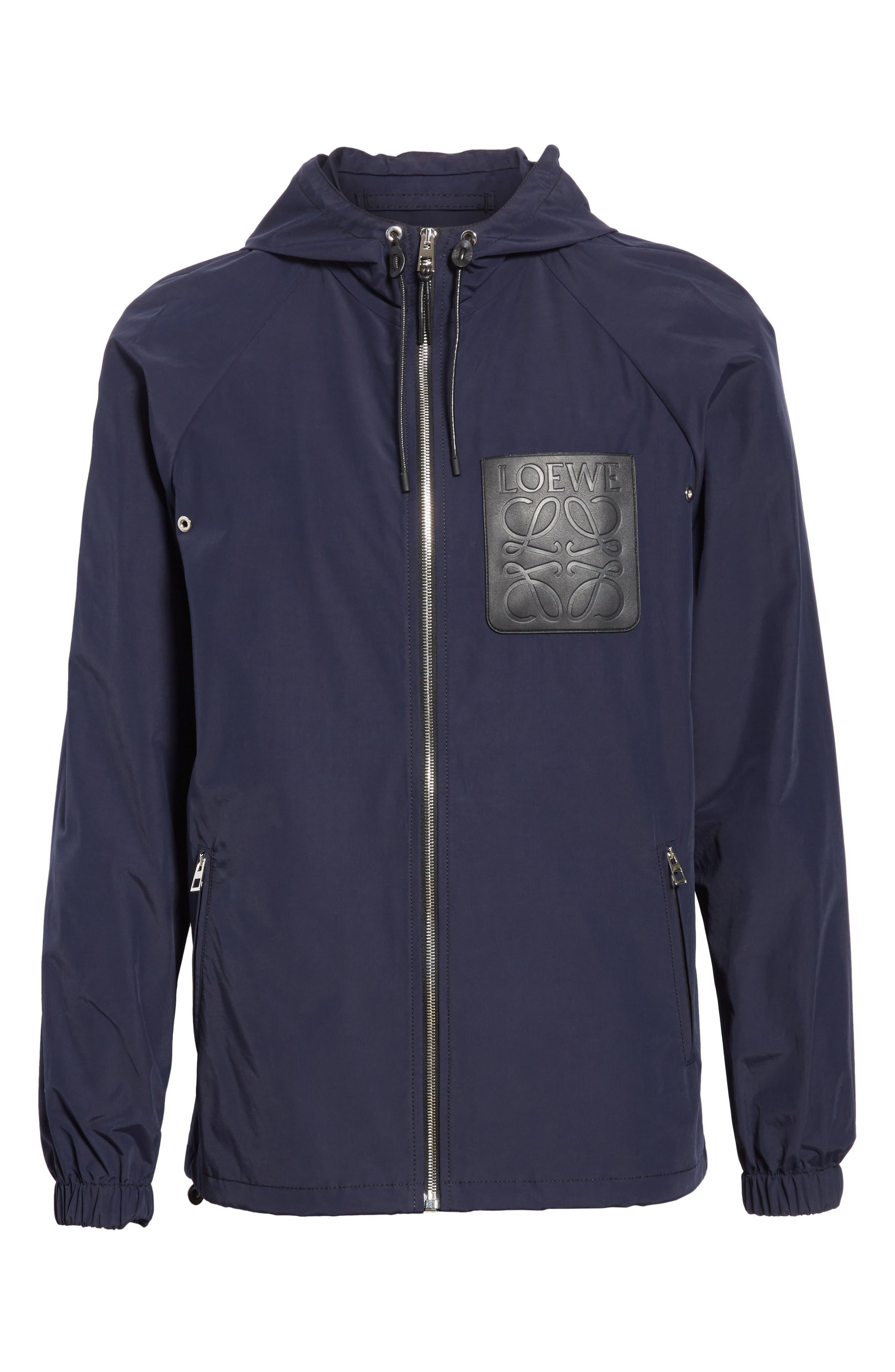 Zip Hooded Jacket,                             Alternate thumbnail 6, color,                             NAVY BLUE
