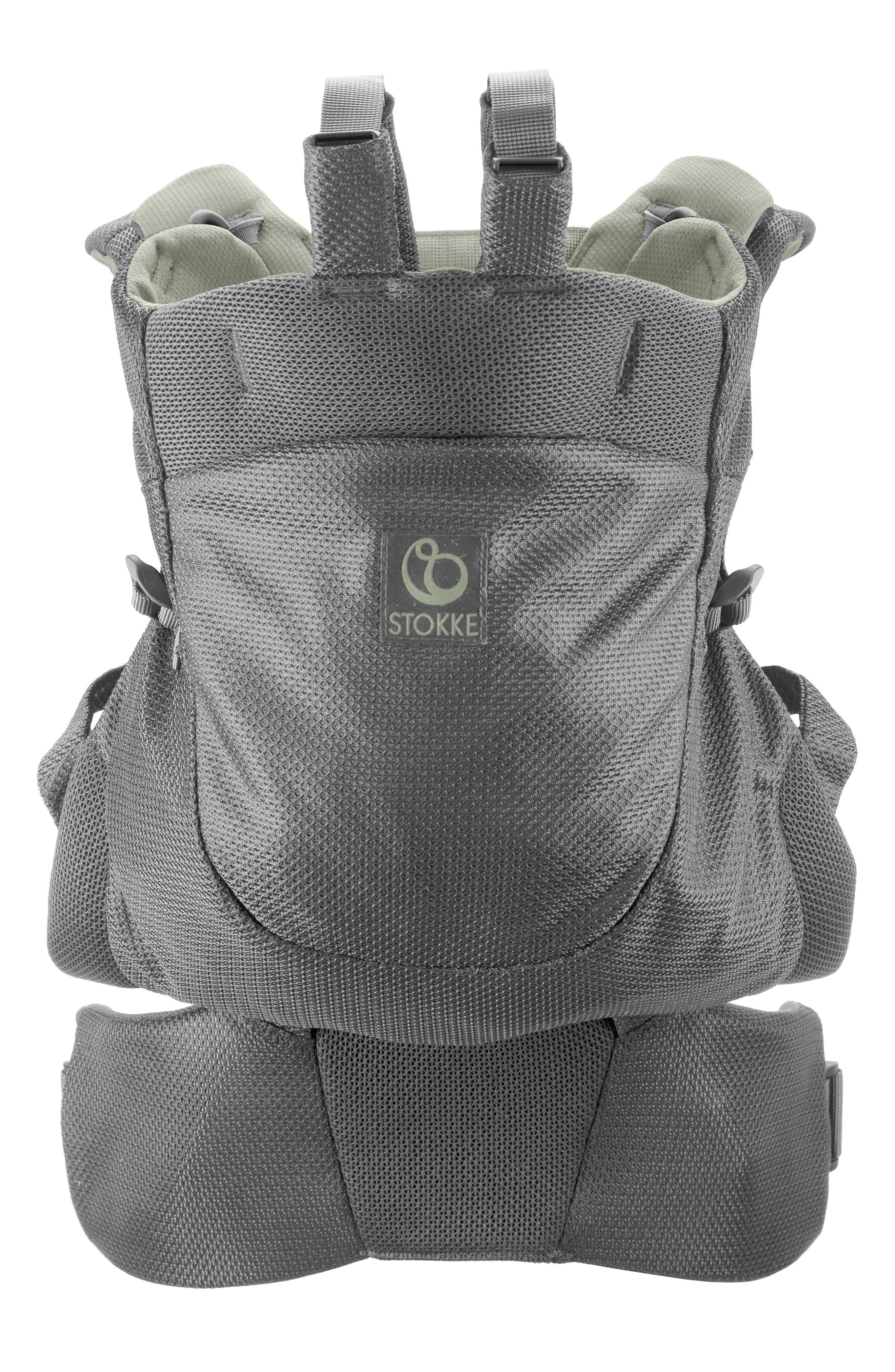MyCarrier<sup>™</sup> Front Baby Carrier,                         Main,                         color, GREEN MESH