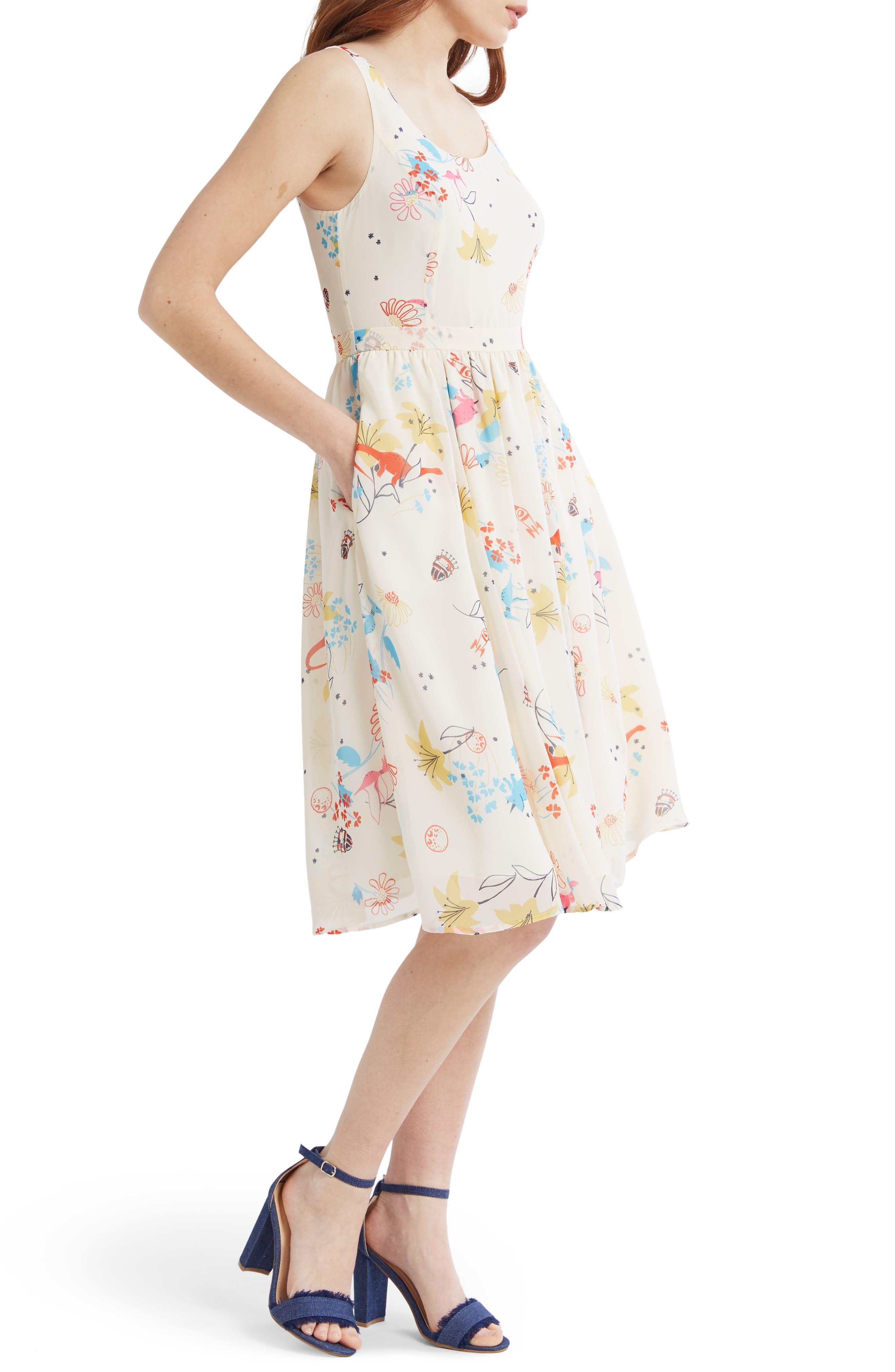 Plus Size Modcloth Free Feeling A-Line Dress, Size - Ivory